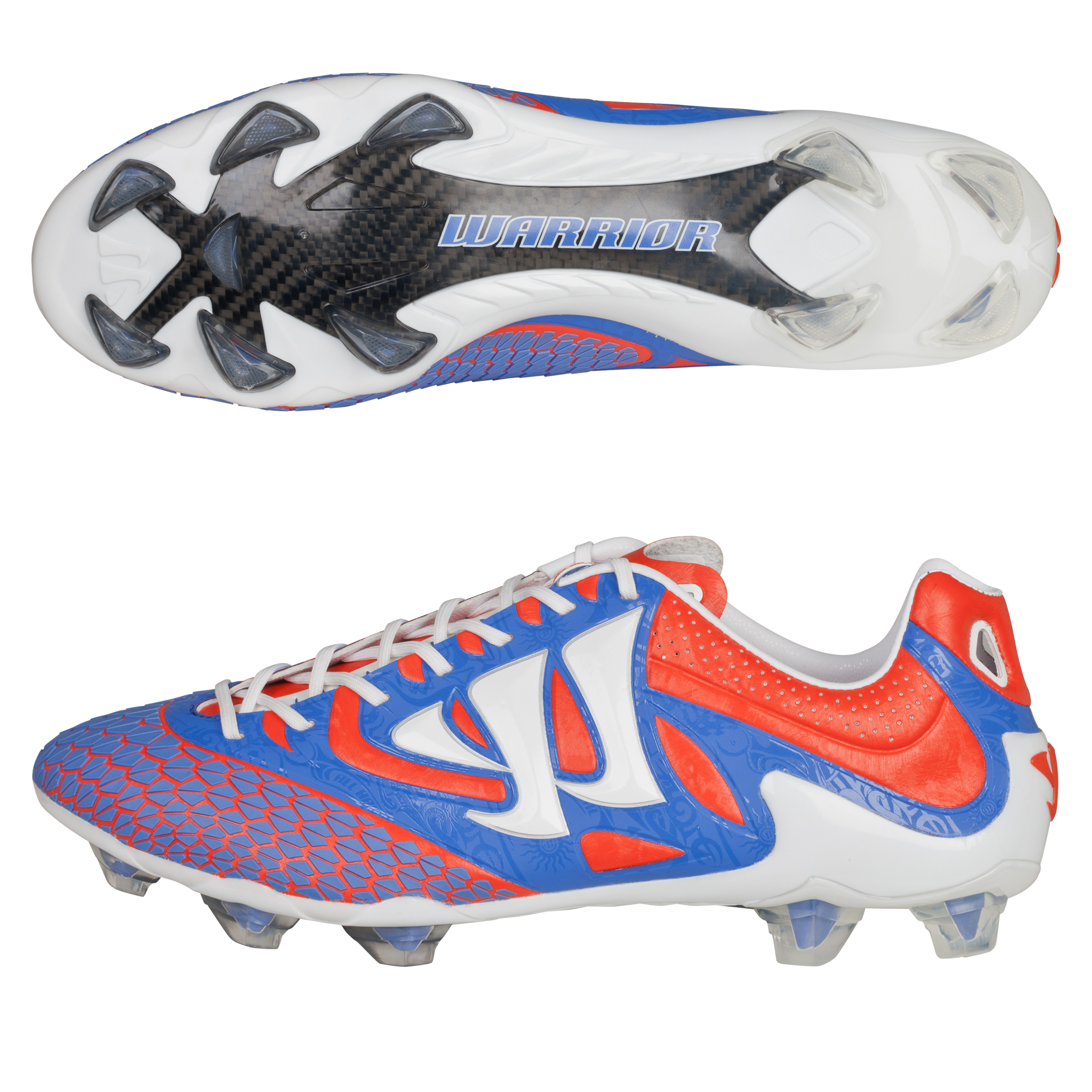 Warrior Sports Skreamer S-Lite Firm Ground Football Boots - Spicy Orange/Baja Blue/White
