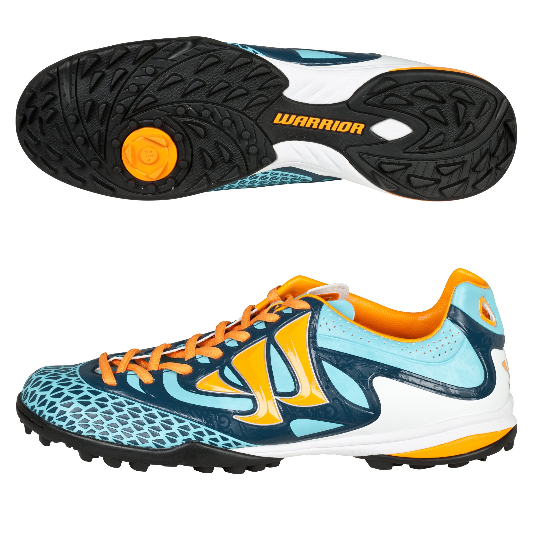 Warrior Sports Skreamer Combat Astroturf Trainers - Blue Radiance/Bright Marigold/Insignia Blue