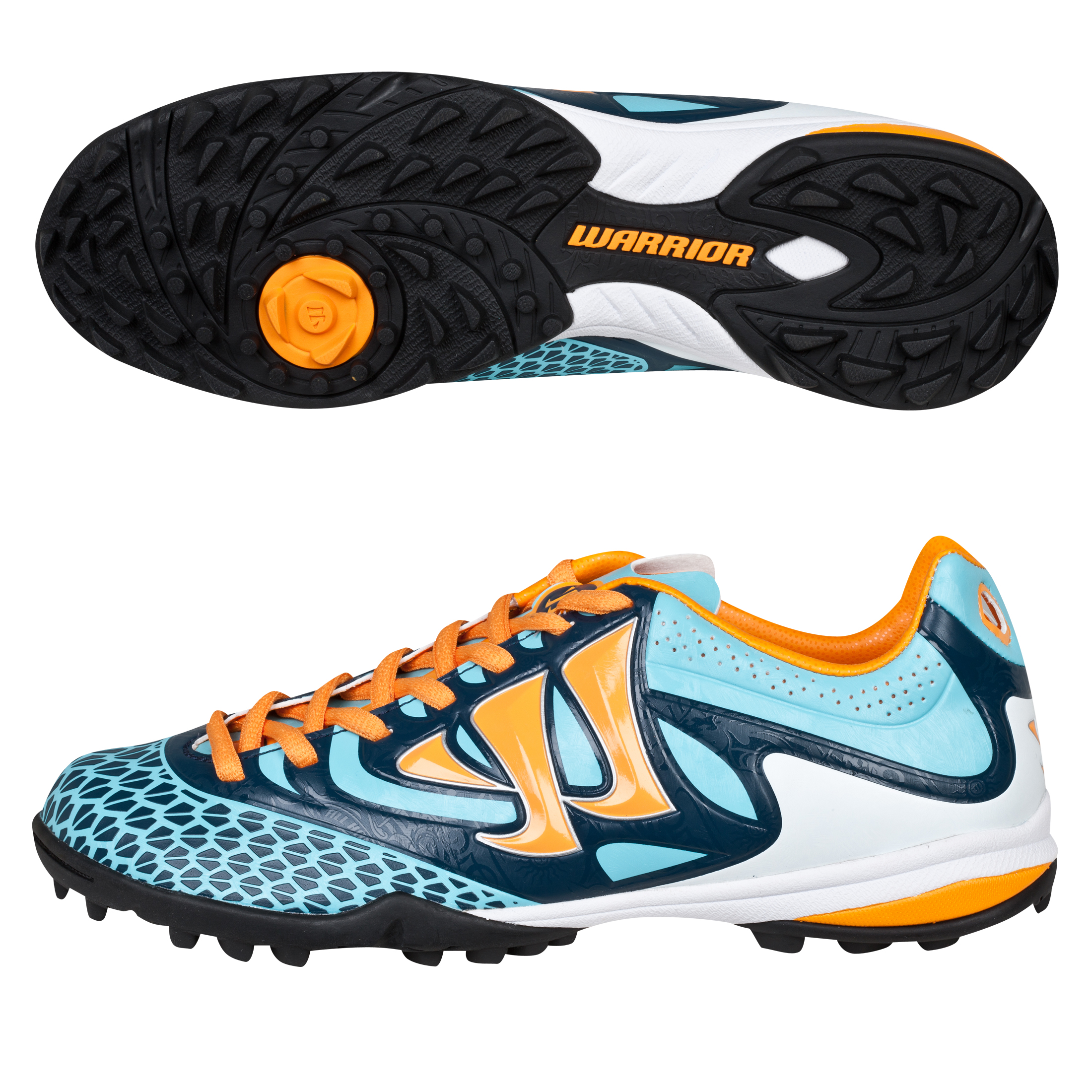 Warrior Sports Skreamer Combat Astroturf Trainers - Blue Radiance/Bright Marigold/Insignia Blue - Kids