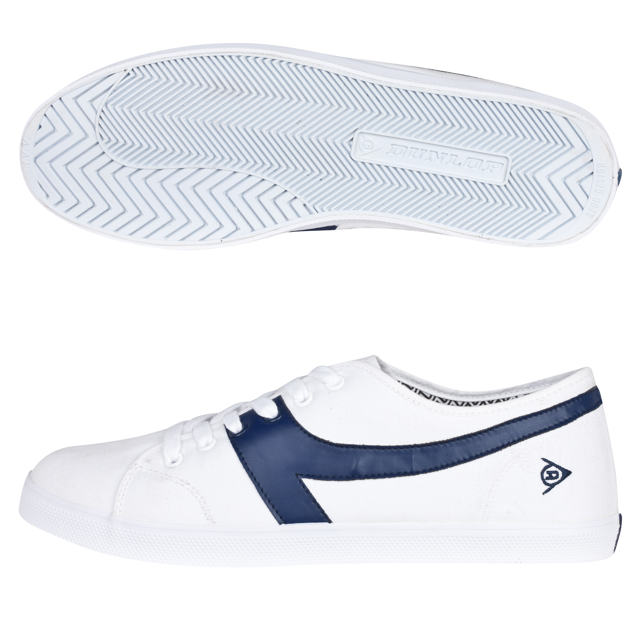 Dunlop 1987 Chevron Trainers - White/Navy