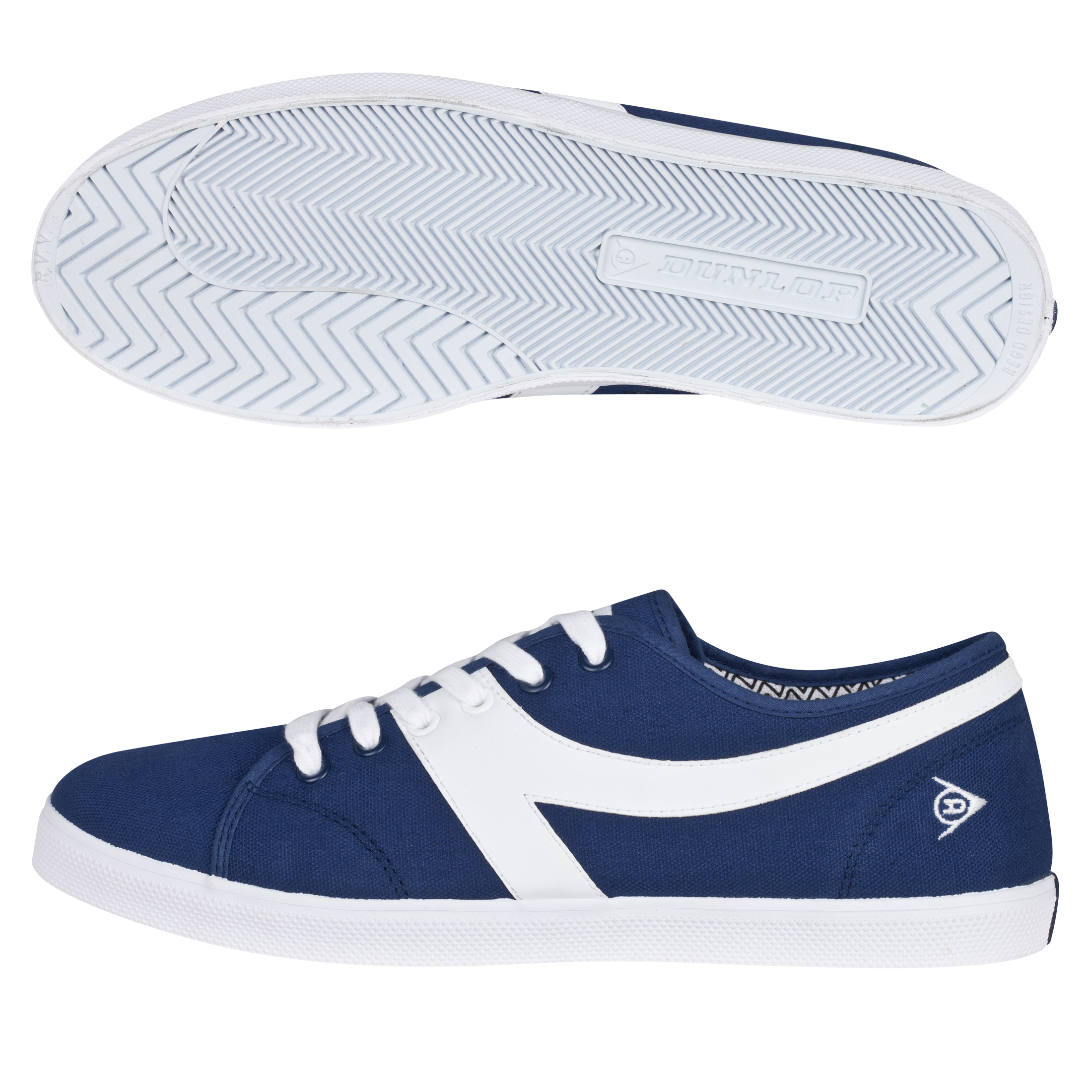 Dunlop 1987 Chevron Trainers - Navy/White