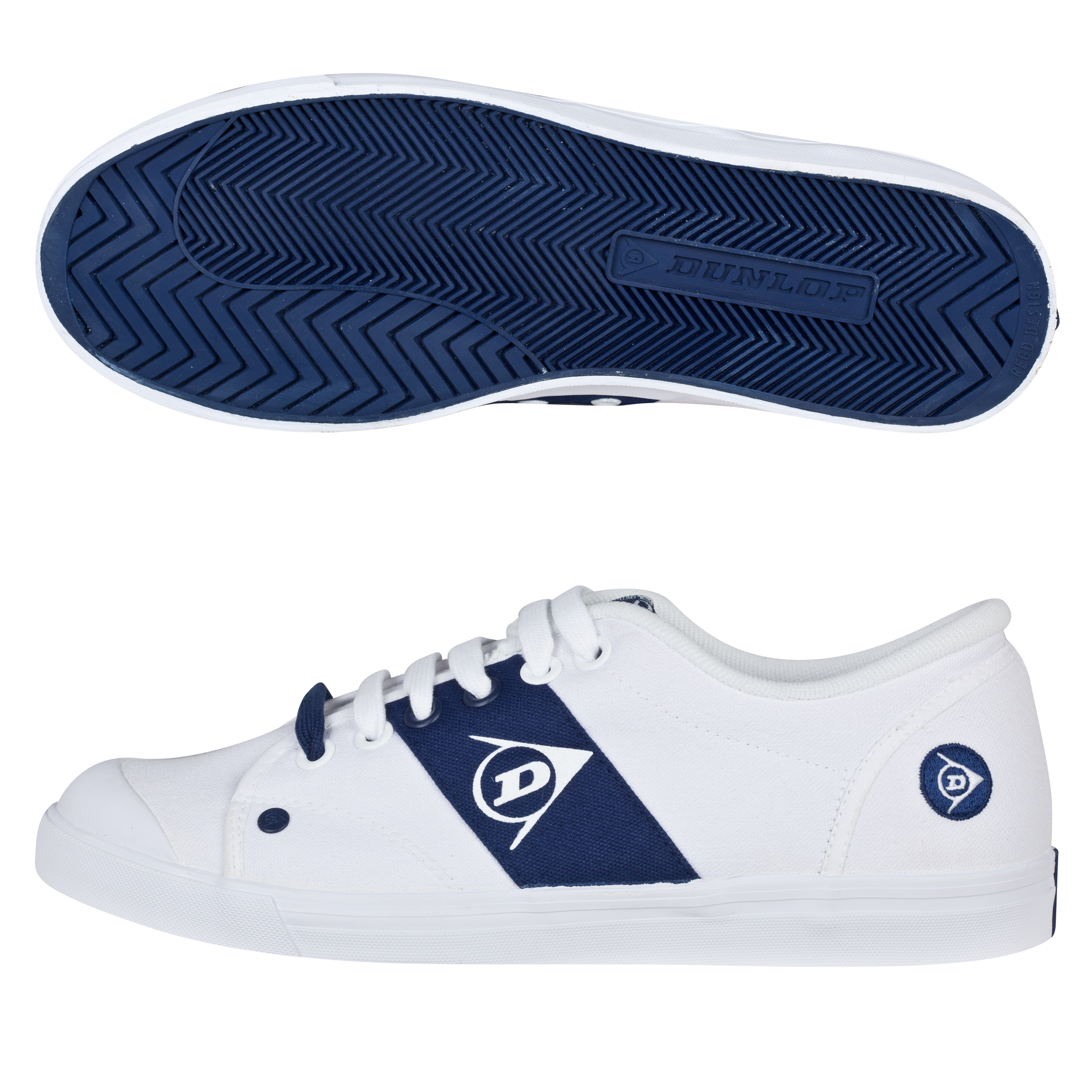 Dunlop 1987 Panel Trainers - White/Navy
