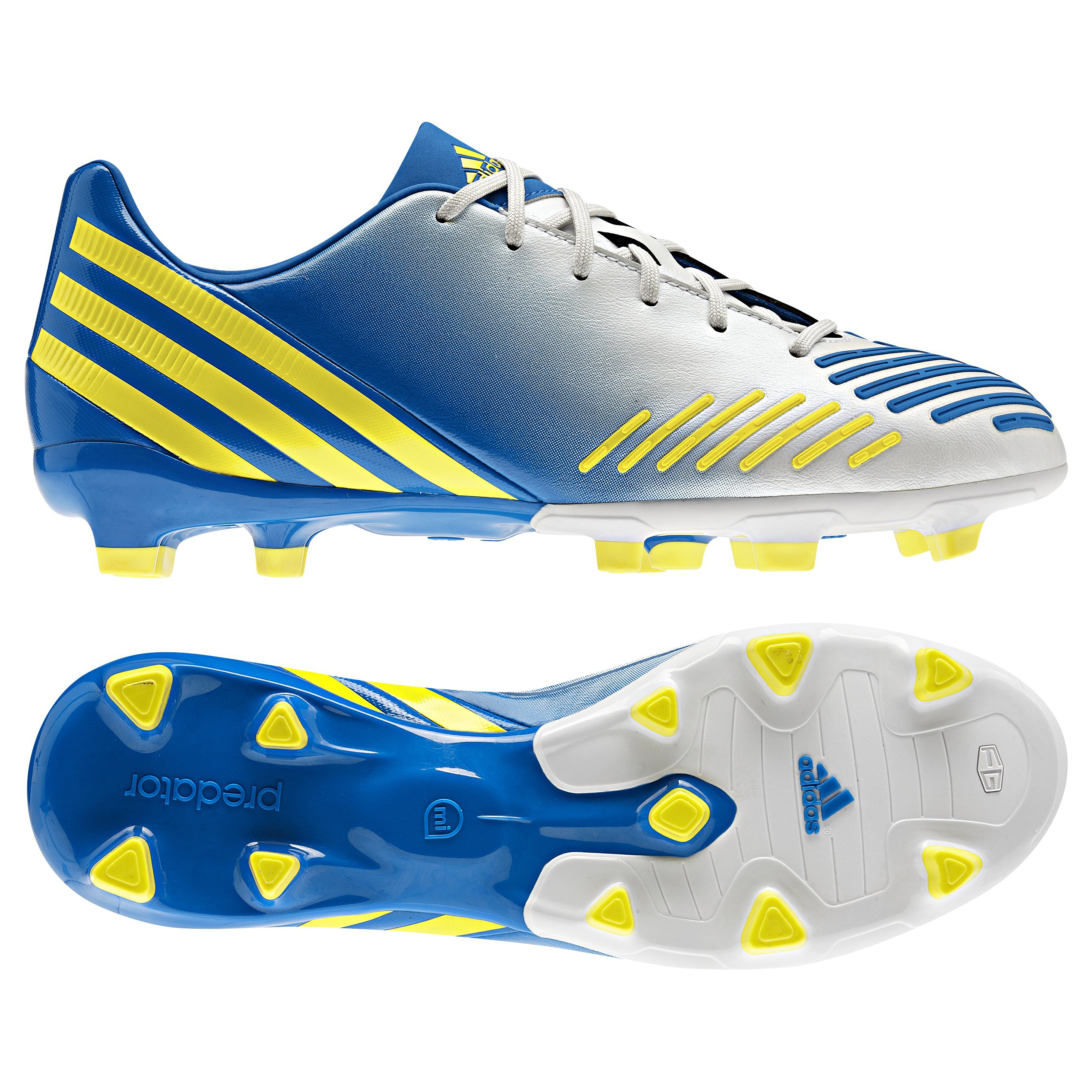 adidas Predator Absolion LZ TRX Firm Ground Football Boots - Running White/Vivid Yellow/Prime Blue