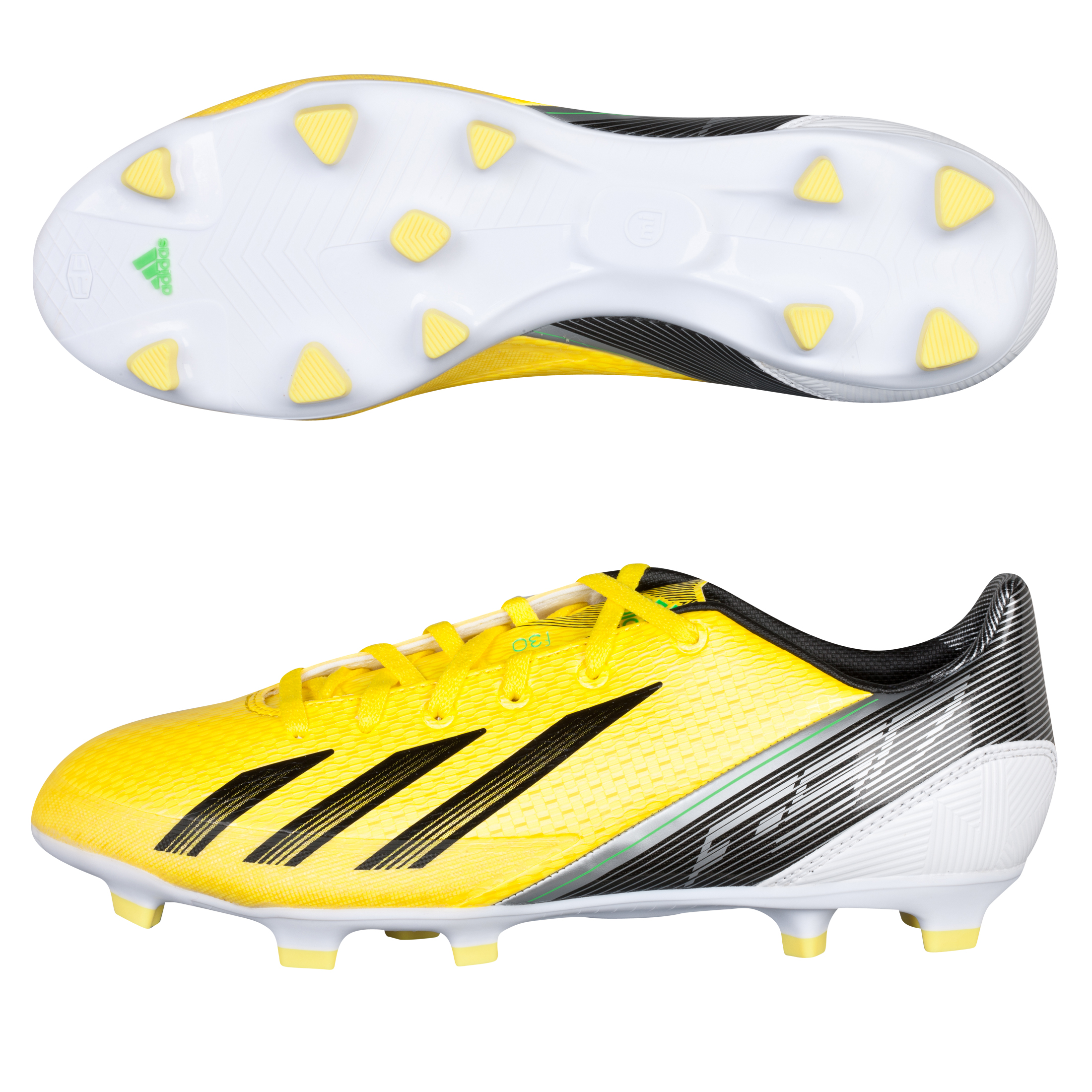 adidas AdiZero F30 TRX Firm Ground Football Boots - Vivid Yellow/Black/Green Zest