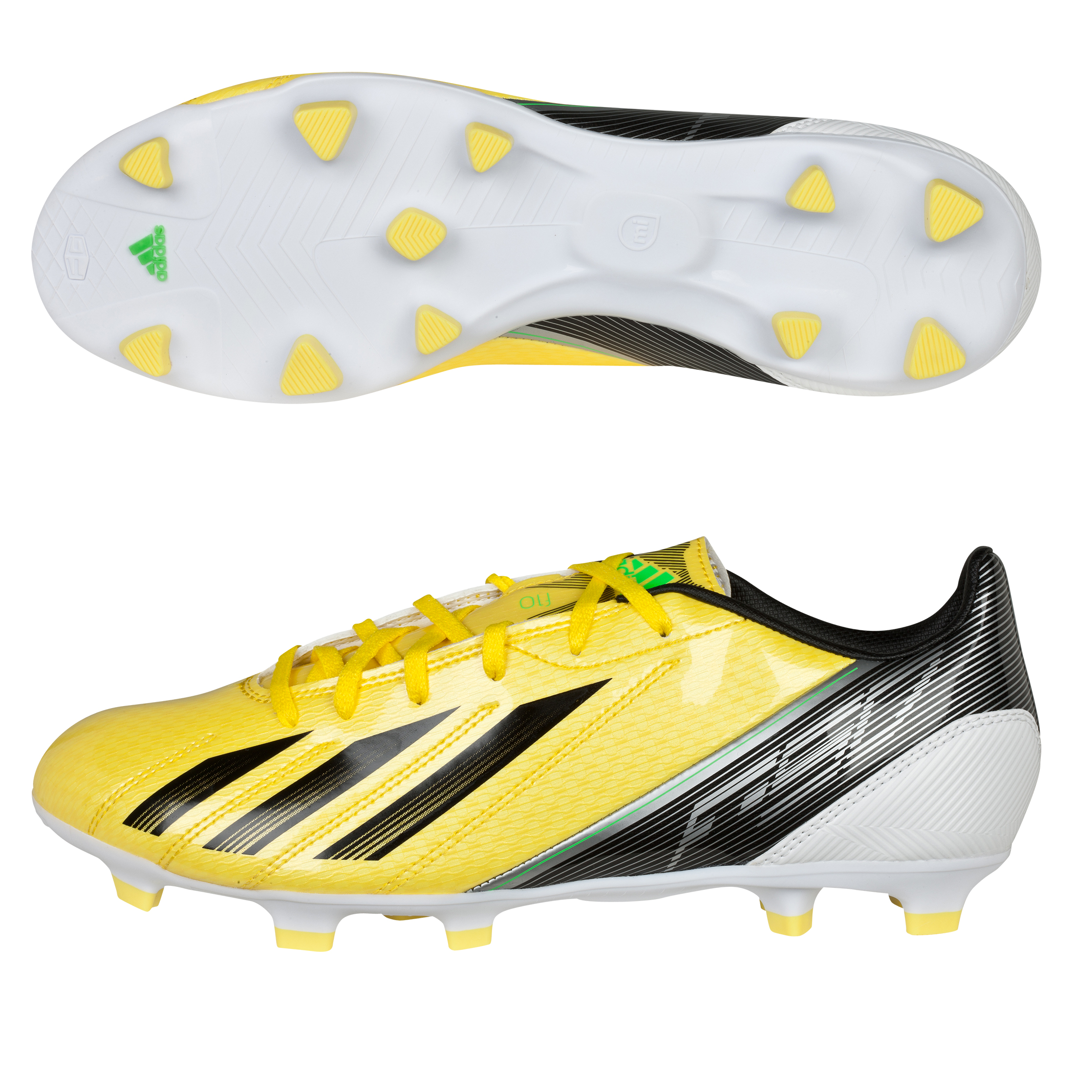 adidas Adizero F10 TRX Firm Ground Football Boots - Vivid Yellow/Black/Green Zest