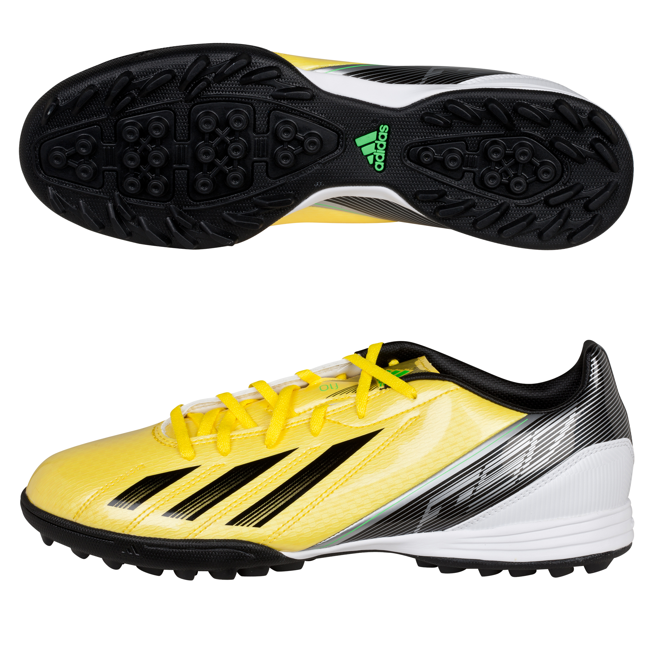 adidas Adizero F10 TRX Astroturf Trainers - Vivid Yellow/Black/Green Zest