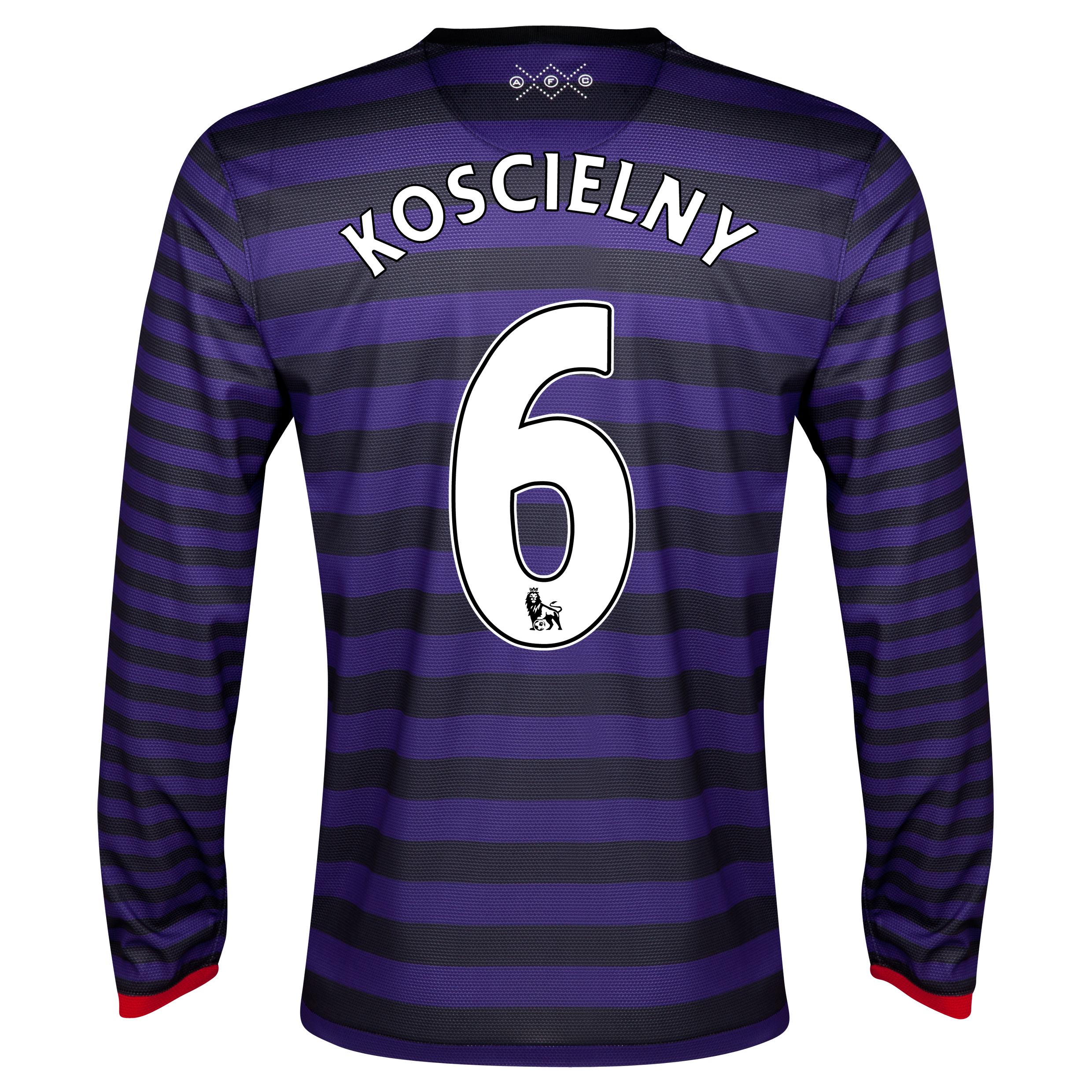 Arsenal Away Shirt 2012/13 - Long Sleeve with Koscielny 6 printing