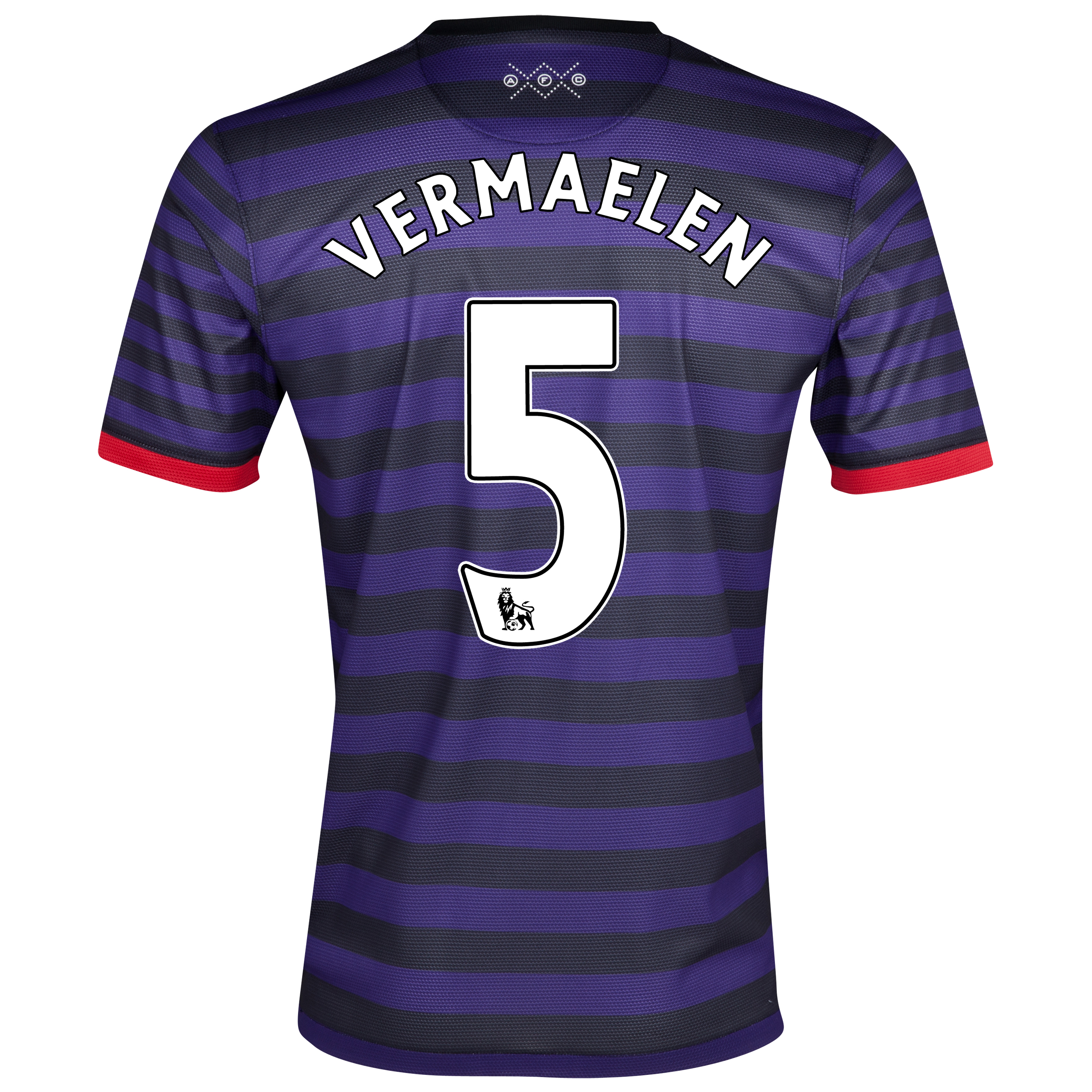 Arsenal Away Shirt  2012/13 - Youths with Vermaelen 5 printing