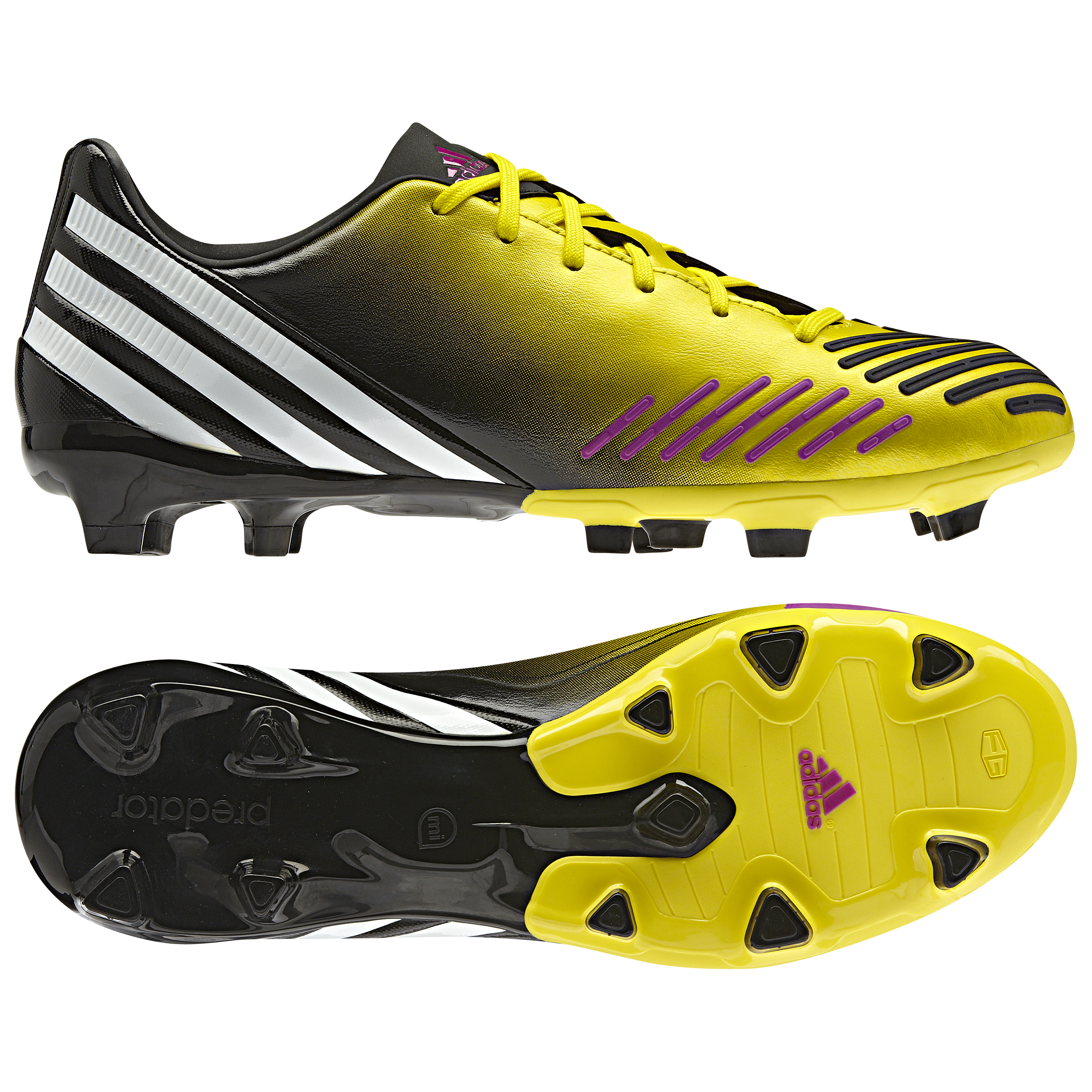 Adidas Predator Absolion LZ TRX Firm Ground Football Boots - Vivid Yellow/White/Vivid Pink
