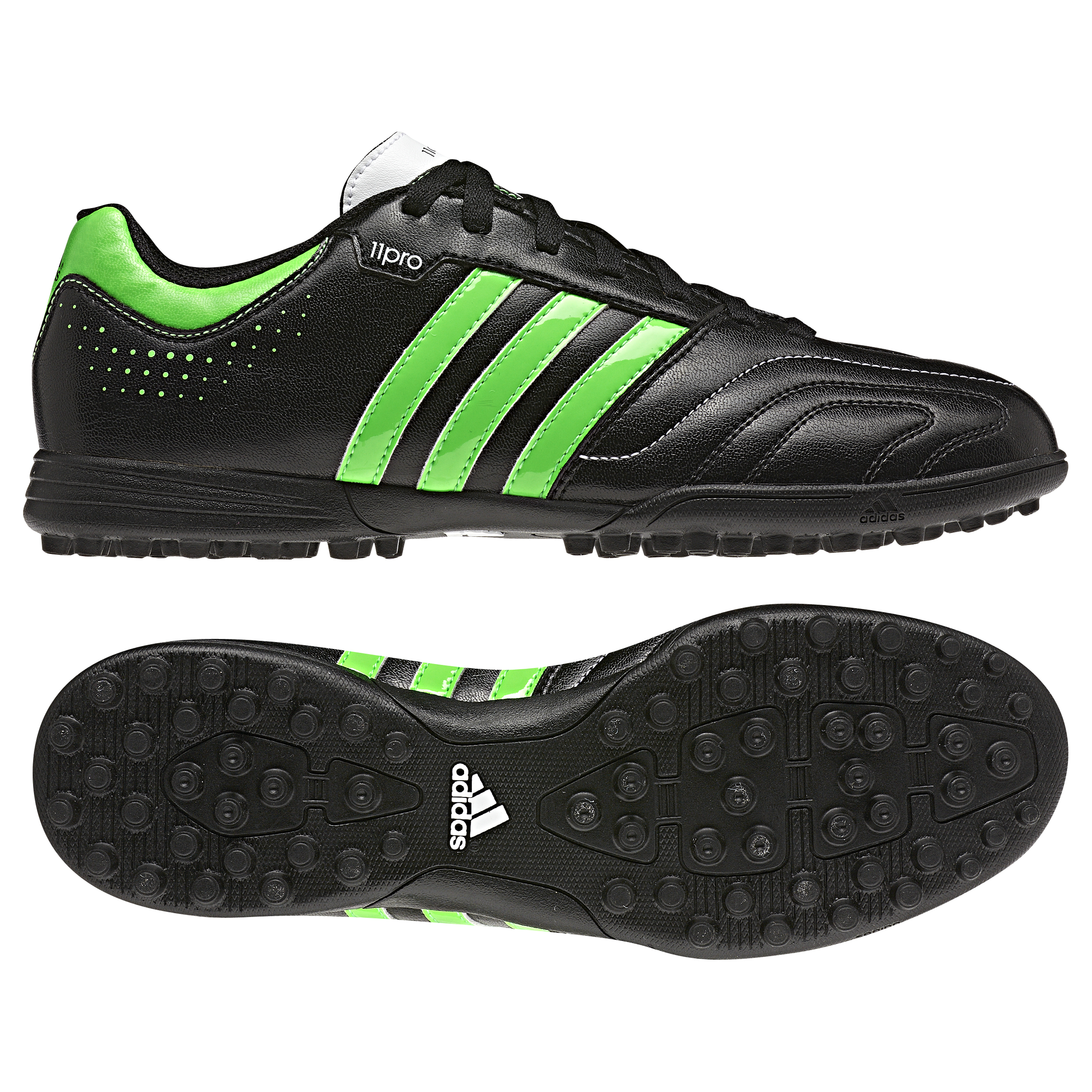 Adidas AdiPure 11Questra TRX Astroturf Trainers - Black/Green Zest/White