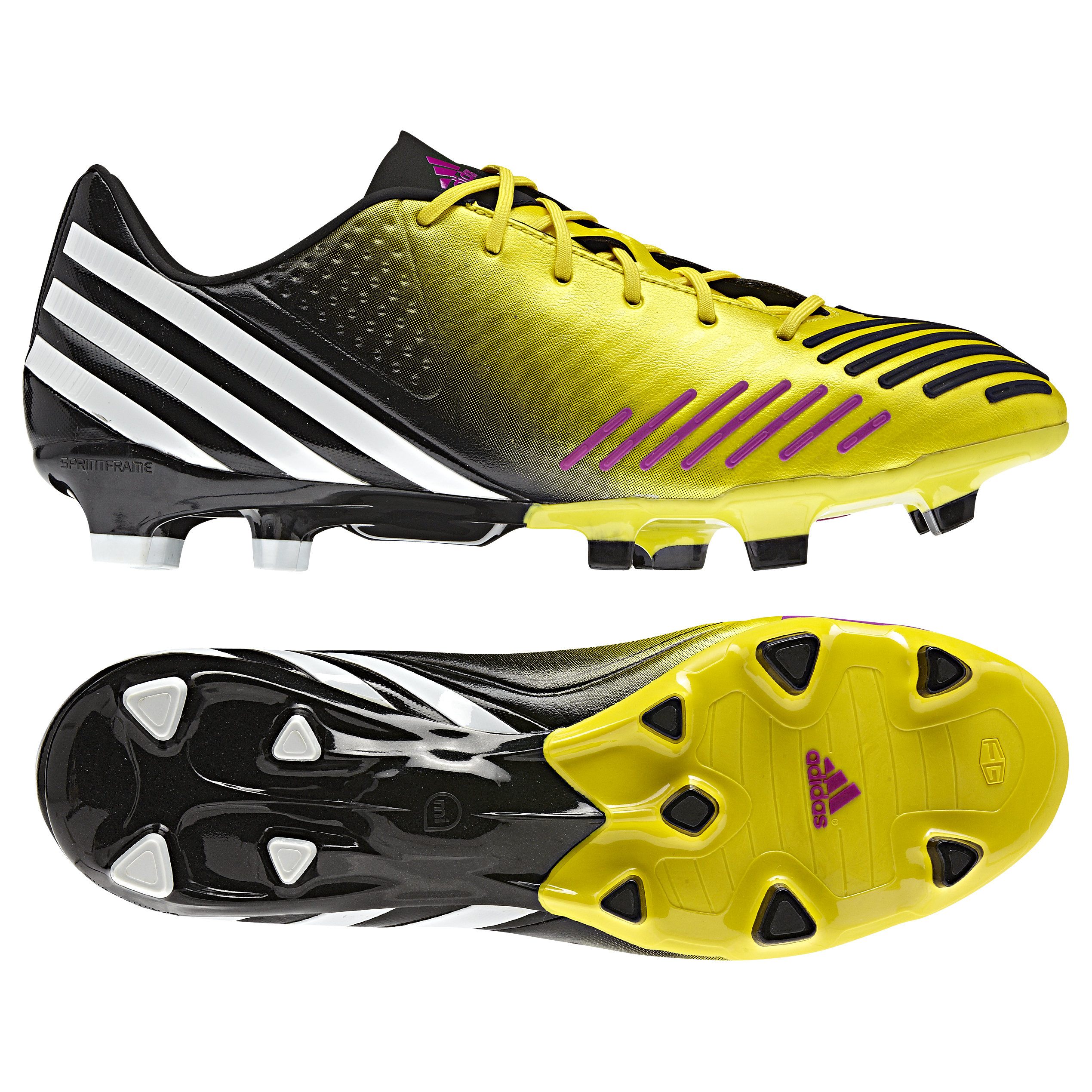 Adidas Predator LZ TRX Firm Ground Football Boots - Vivid Yellow/White/Vivid Pink