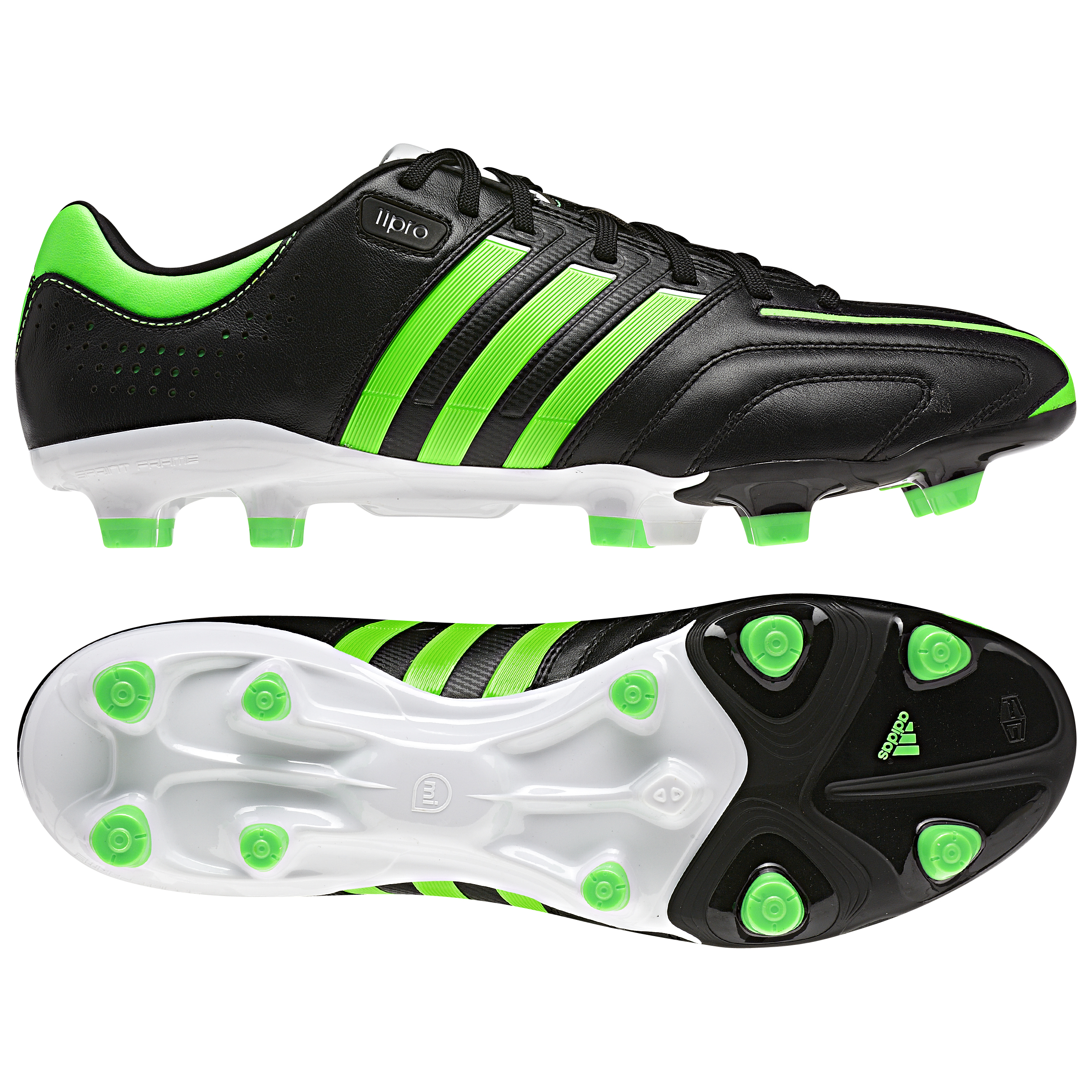 adidas AdiPure 11Pro TRX Firm Ground Football Boots - Black/Green Zest/Running White