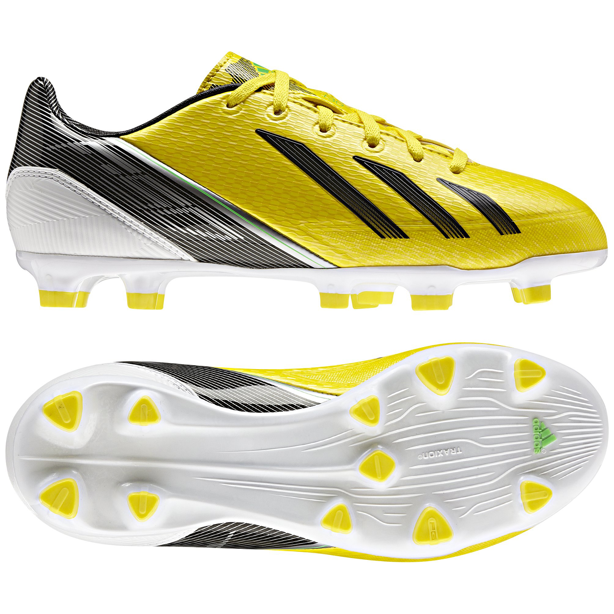 adidas AdiZero F30 TRX Firm Ground Football Boots - Vivid Yellow/Black/Green Zest - Kids