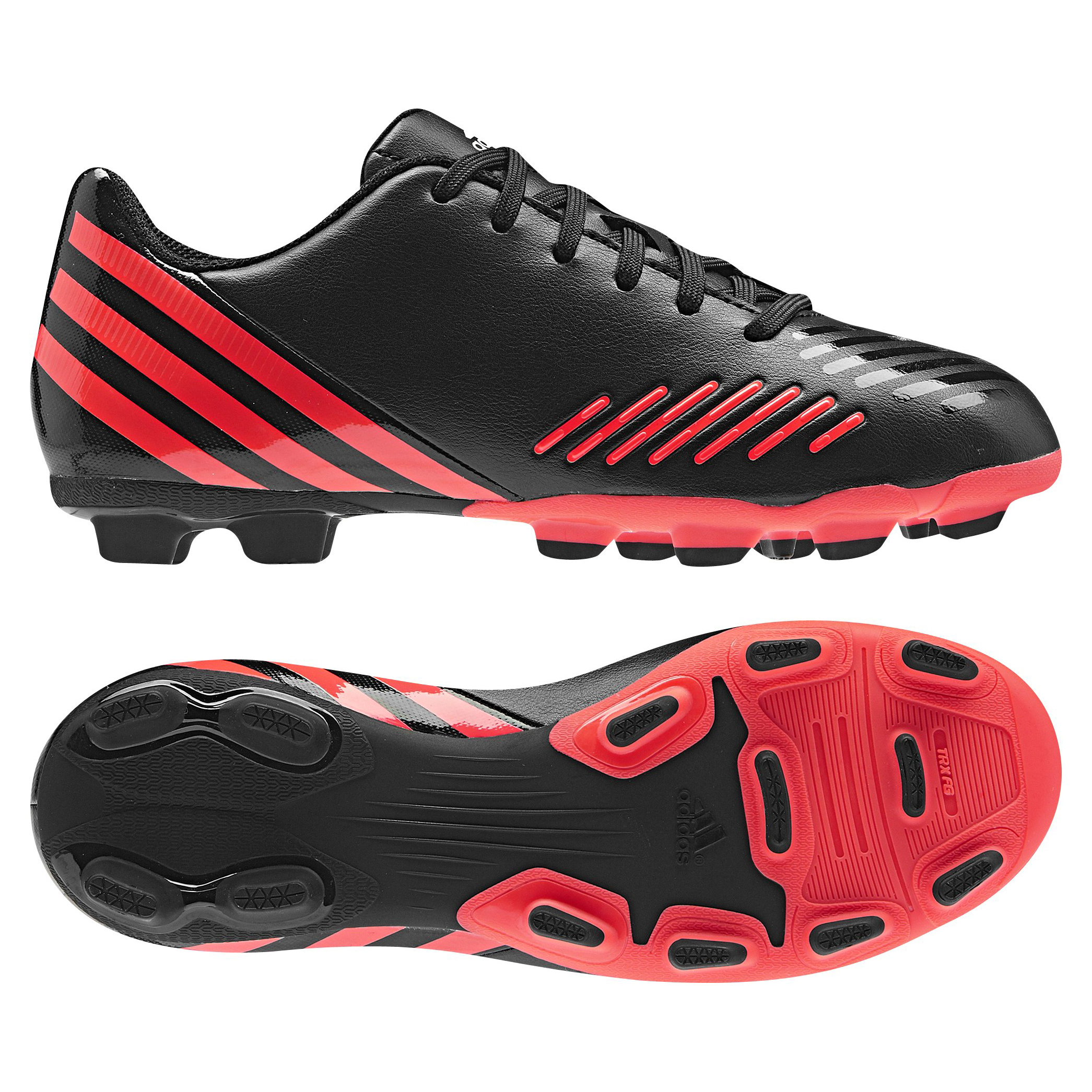 adidas Predito LZ TRX Firm Ground Football Boots - Black/Pop/Running White - Kids