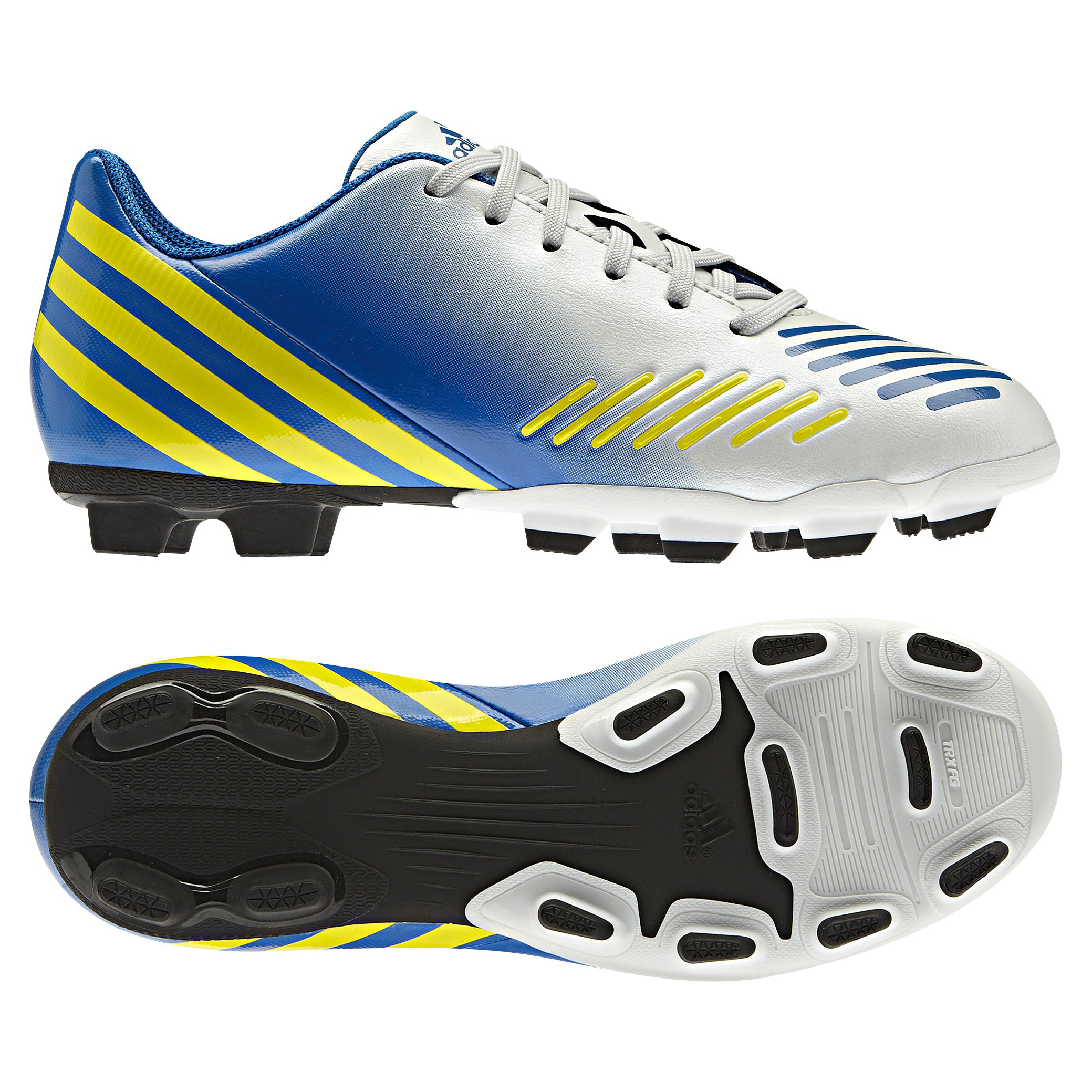 adidas Predito LZ TRX Firm Ground Football Boots - Running White/Vivid Yellow/Prime Blue - Kids