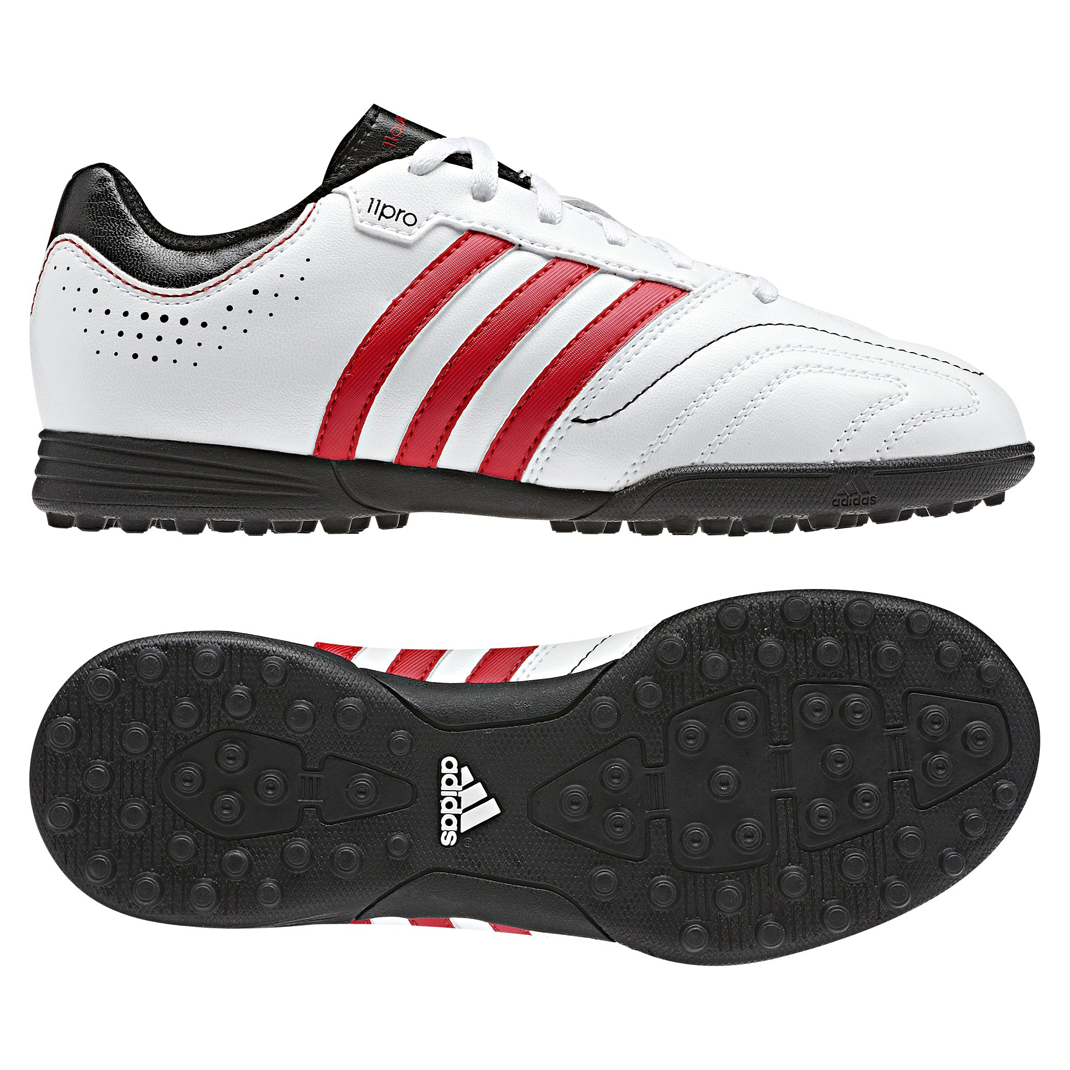 Adidas 11Questra TRX Astroturf Trainers - Kids - White/Vivid Red/Black
