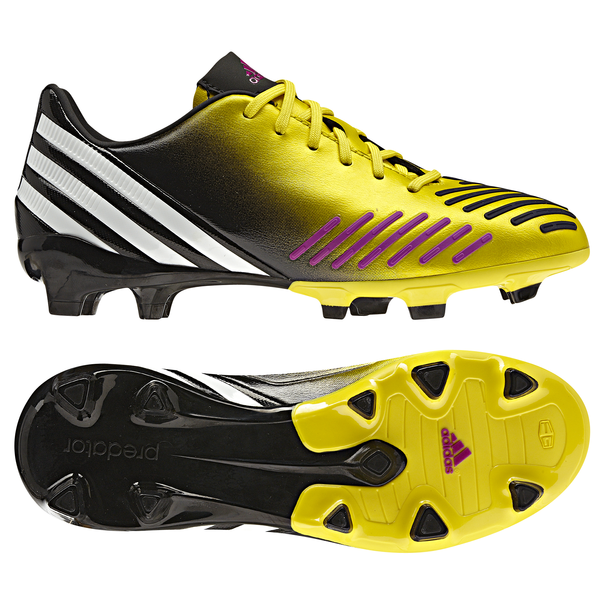 adidas Predator Absolion LZ TRX Firm Ground Football Boots - Vivid Yellow/Running White/Vivid Pink - Kids