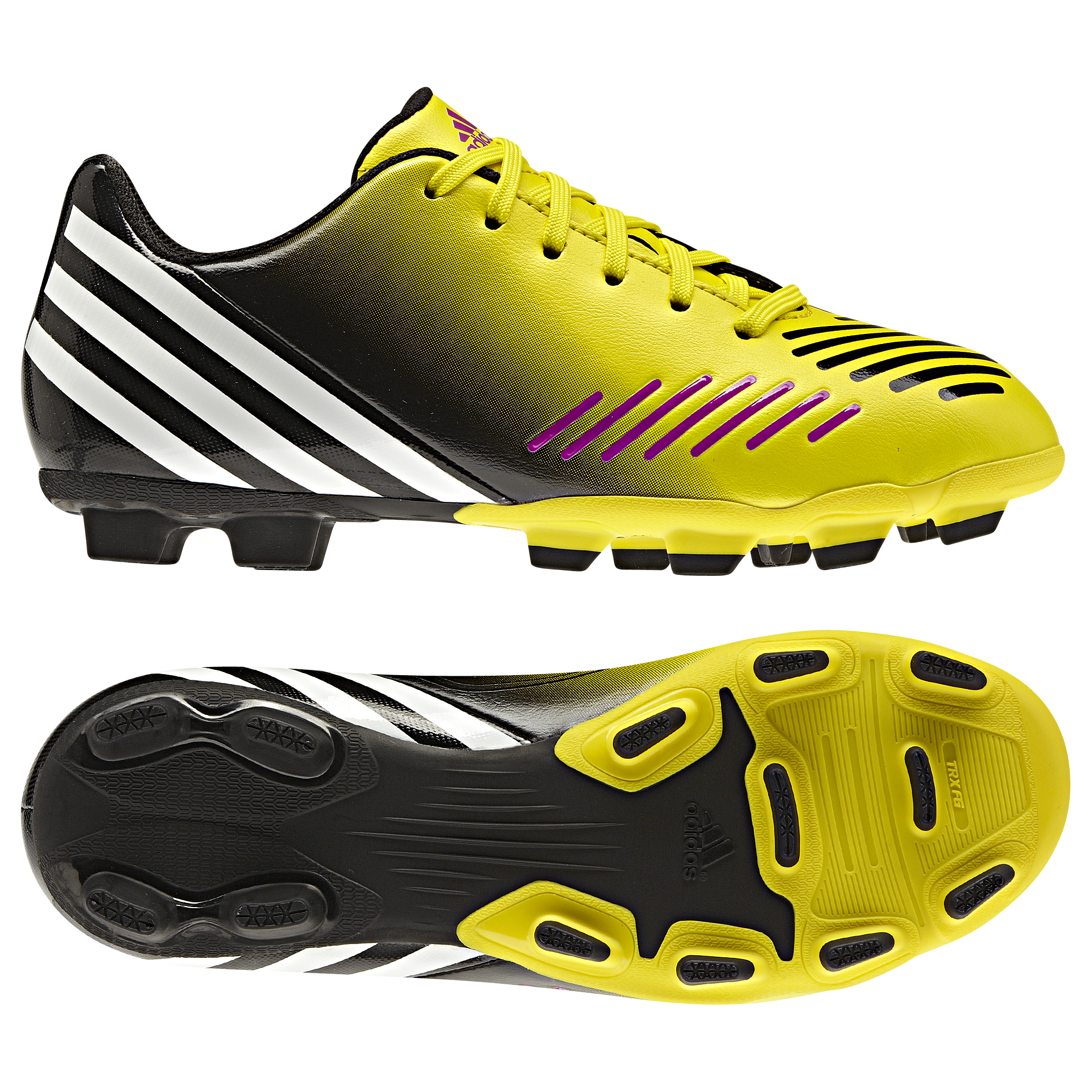 adidas Predito LZ TRX Firm Ground  Football Boots - Vivid Yellow/Running White/Black - Kids