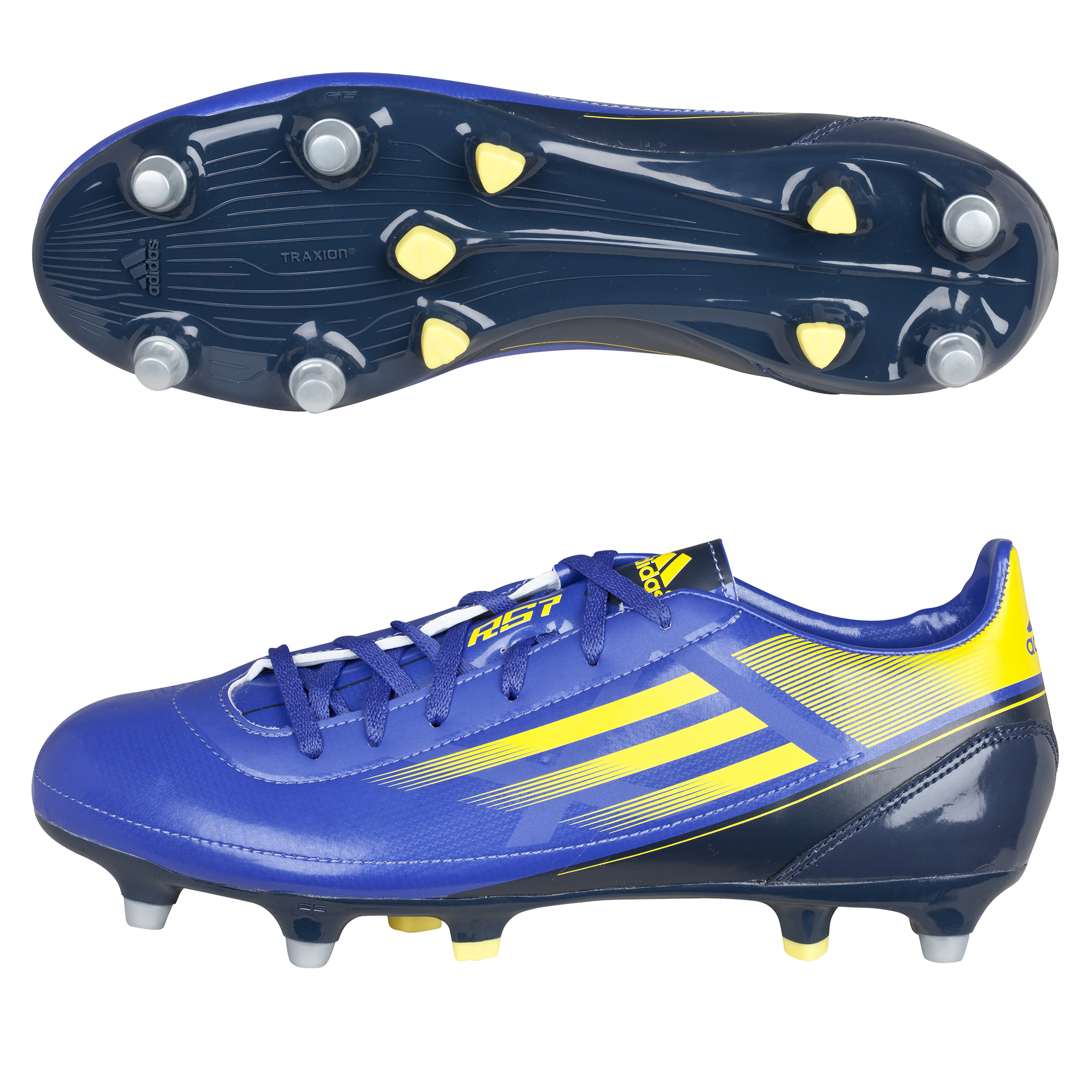 adidas RS7 TRX III Soft Ground Rugby Boots - Blaze Blue Met/Vivid Yellow/Urban Sky