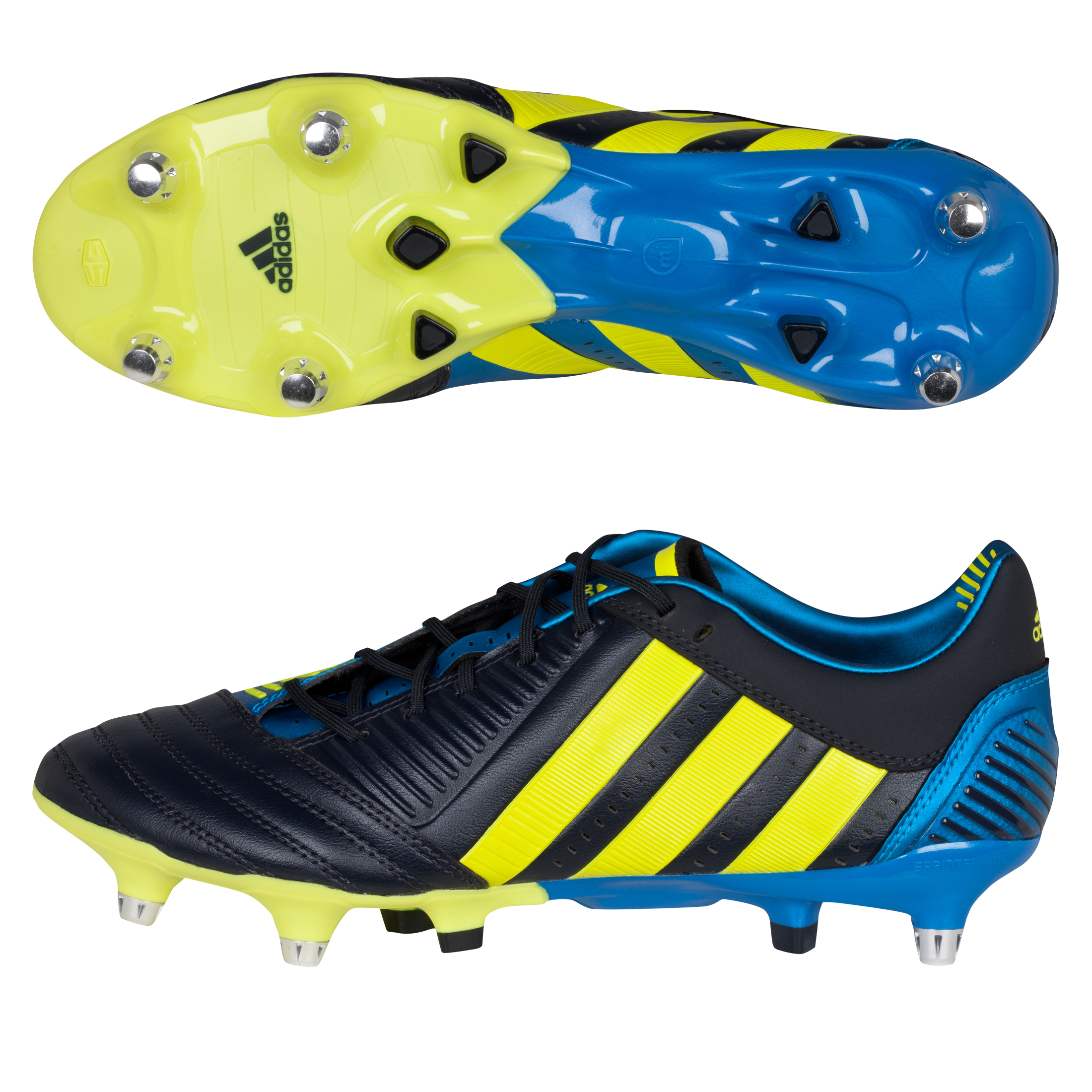 adidas Predator Incurza XTRX Soft Ground Rugby Boots - Punjab/Lab Lime/Bright Blue