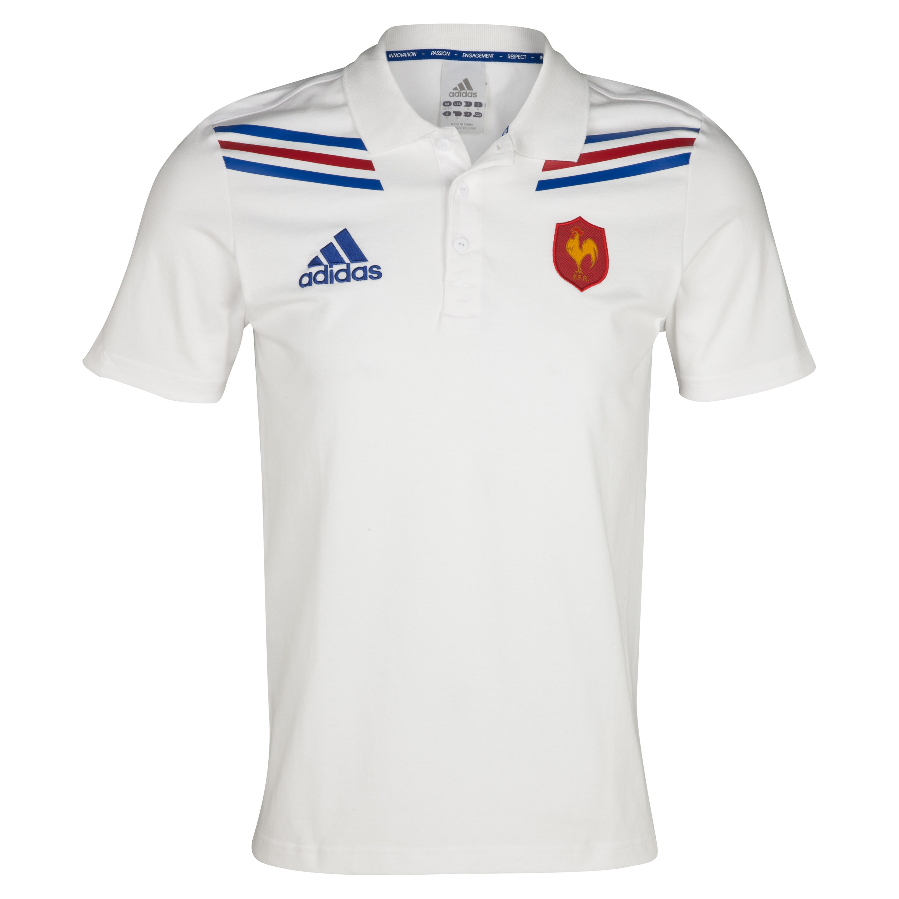 France Rugby Polo - White