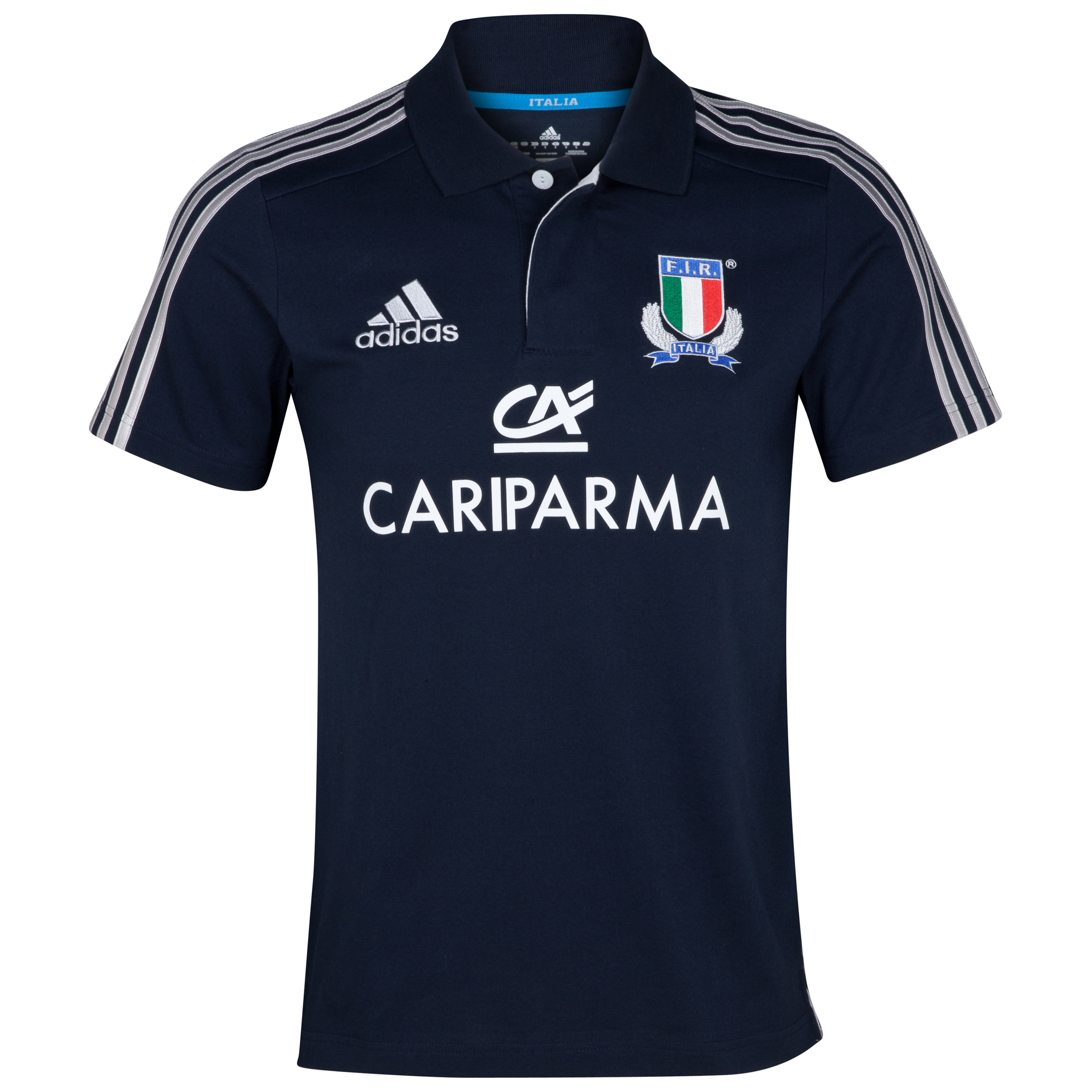 Italy Rugby Polo - Dark Navy/Platinum