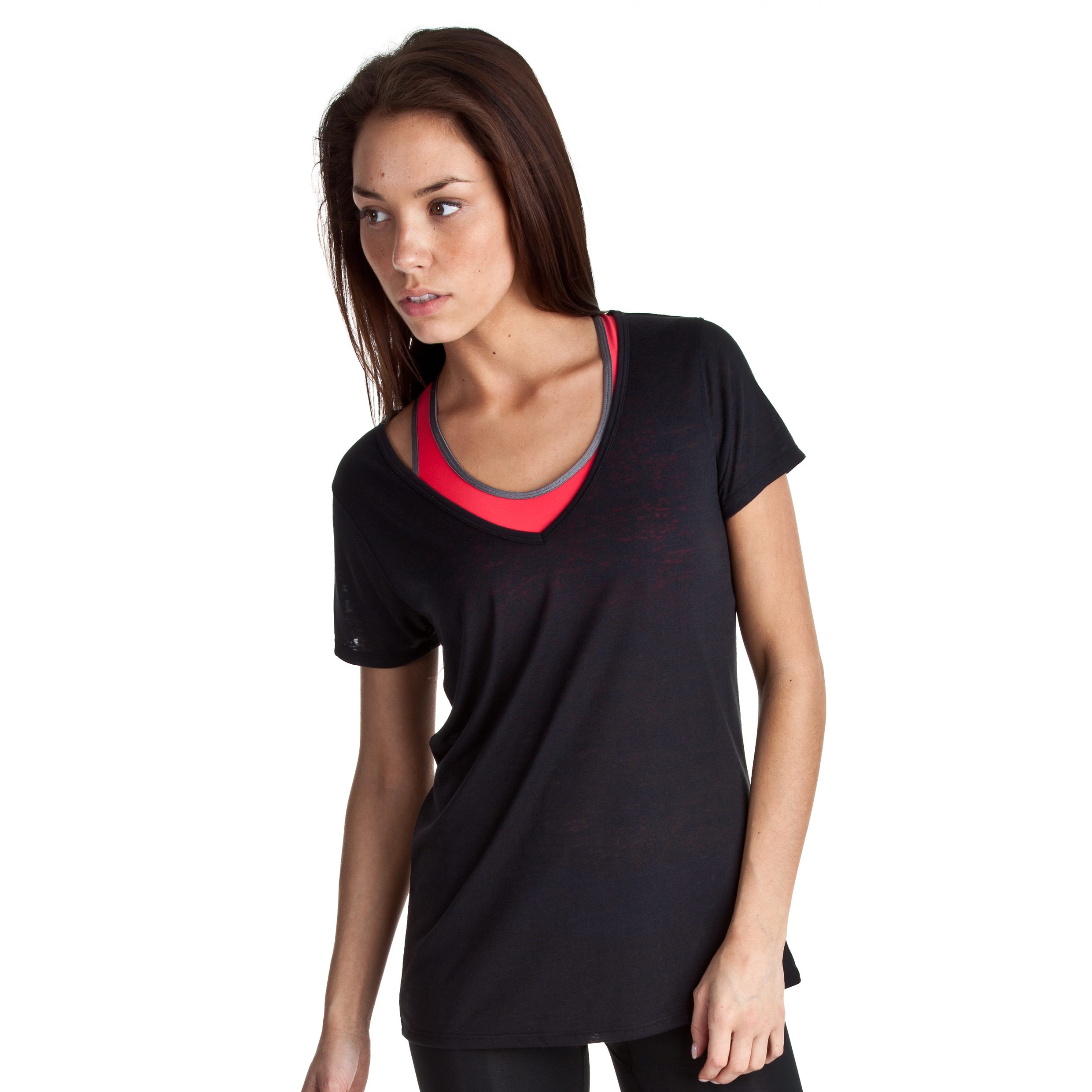 Under Armour Achieve Burnout T - Black/Steel - Womens