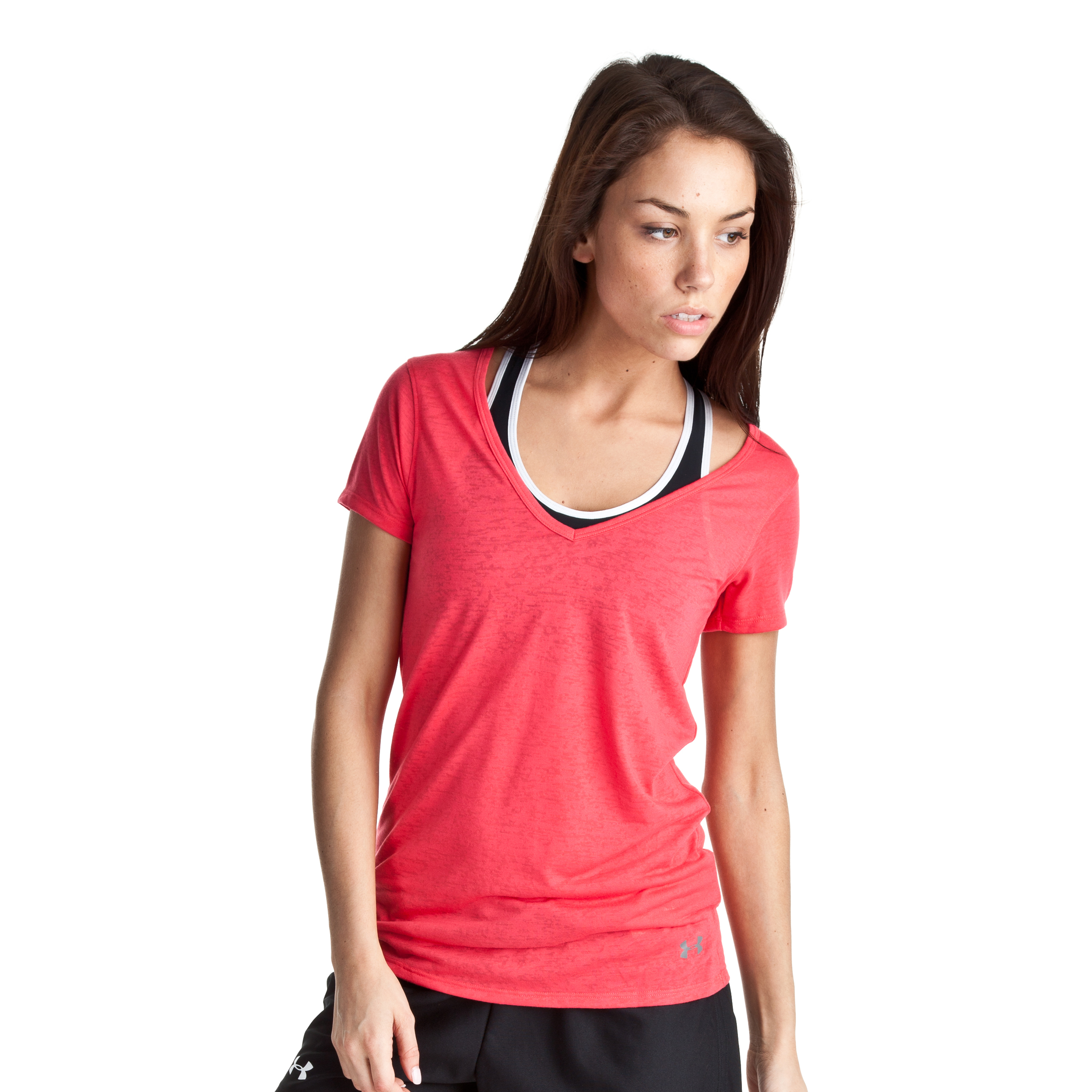 Under Armour Achieve Burnout T - Hibiscous/Graphite - Womens
