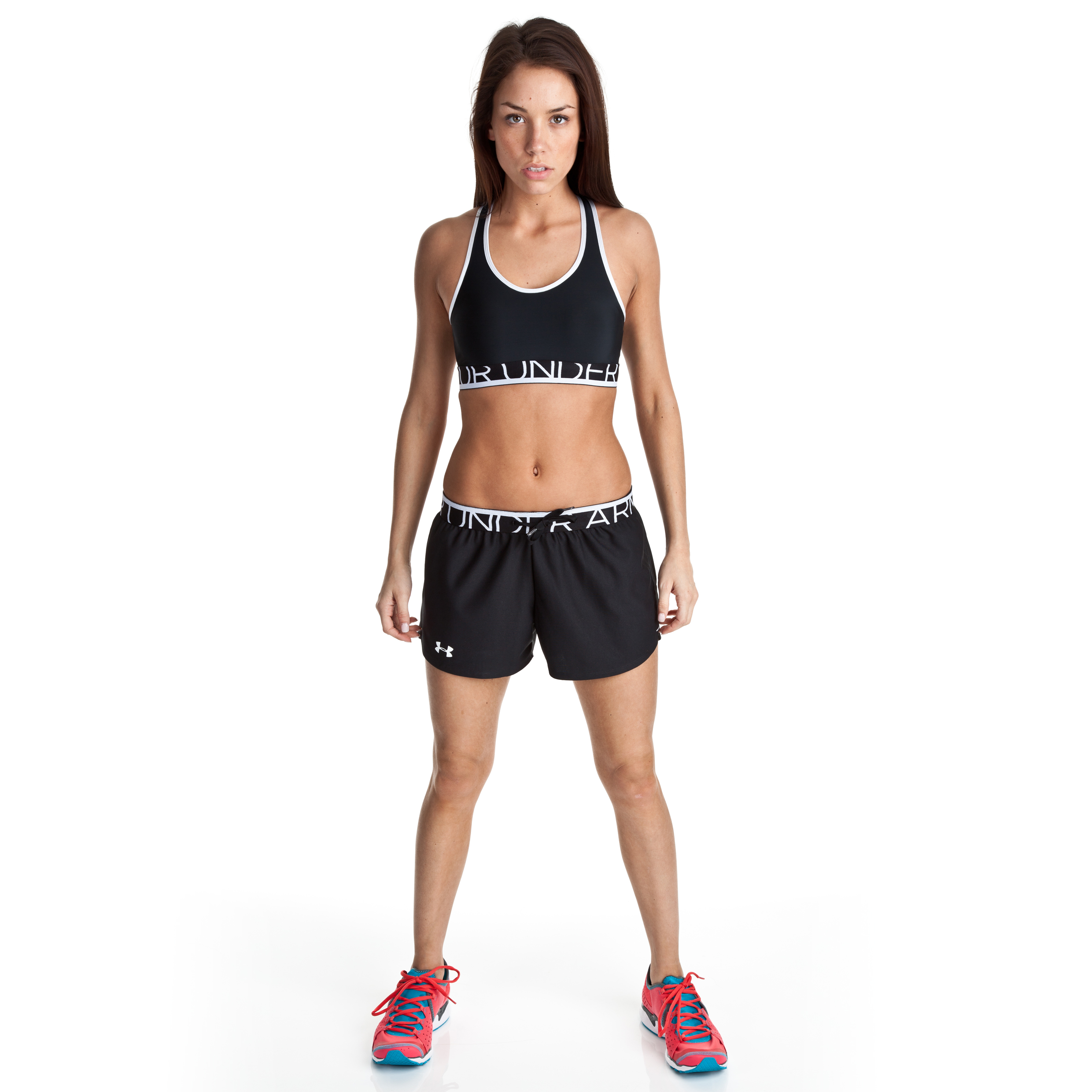 Under Armour Play Up Short - Black/Steel - Womens
