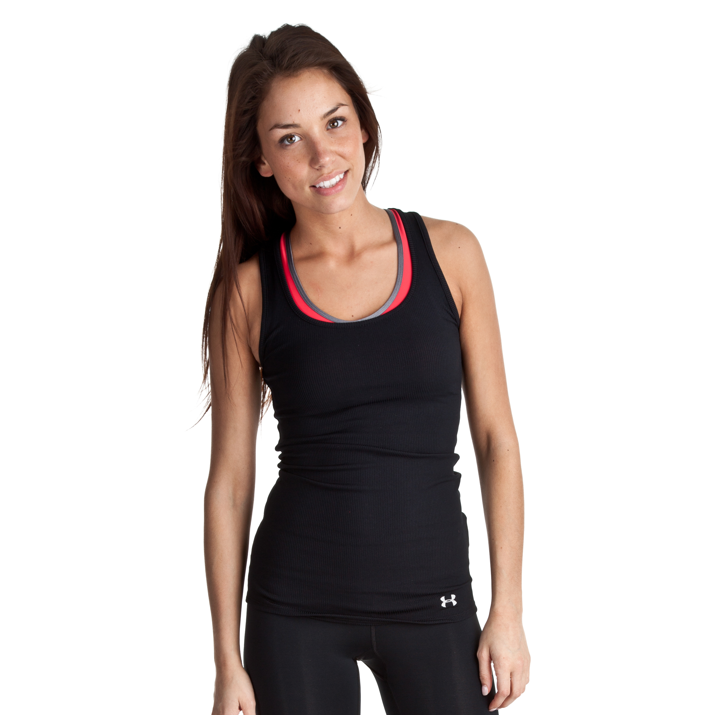Under Armour Victory Tank - Black/Aluminium - Womens