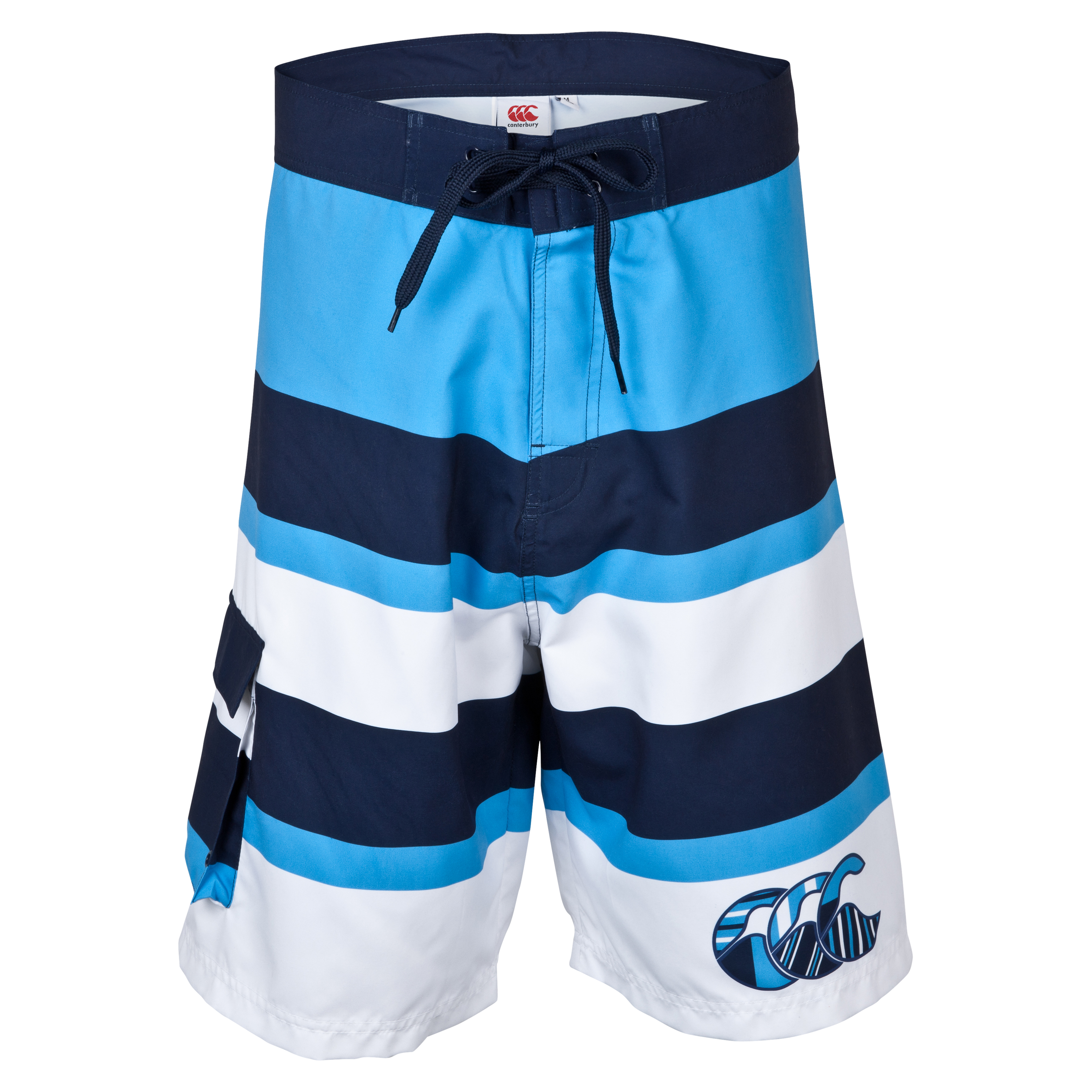 Canterbury Uglies Striped Board Short  - Navy/Malibu