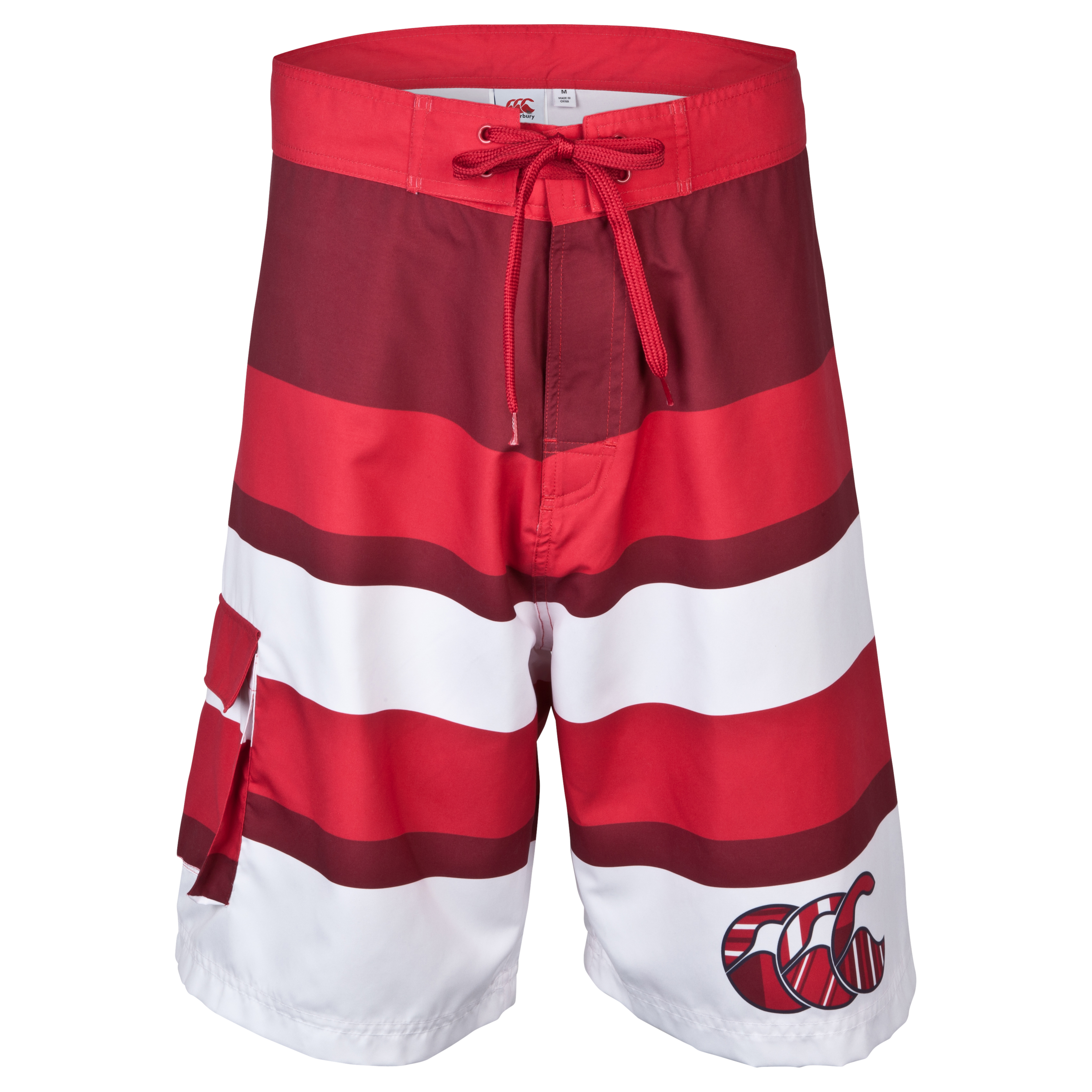 Canterbury Uglies Striped Board Short  - Formula One/Biking Red