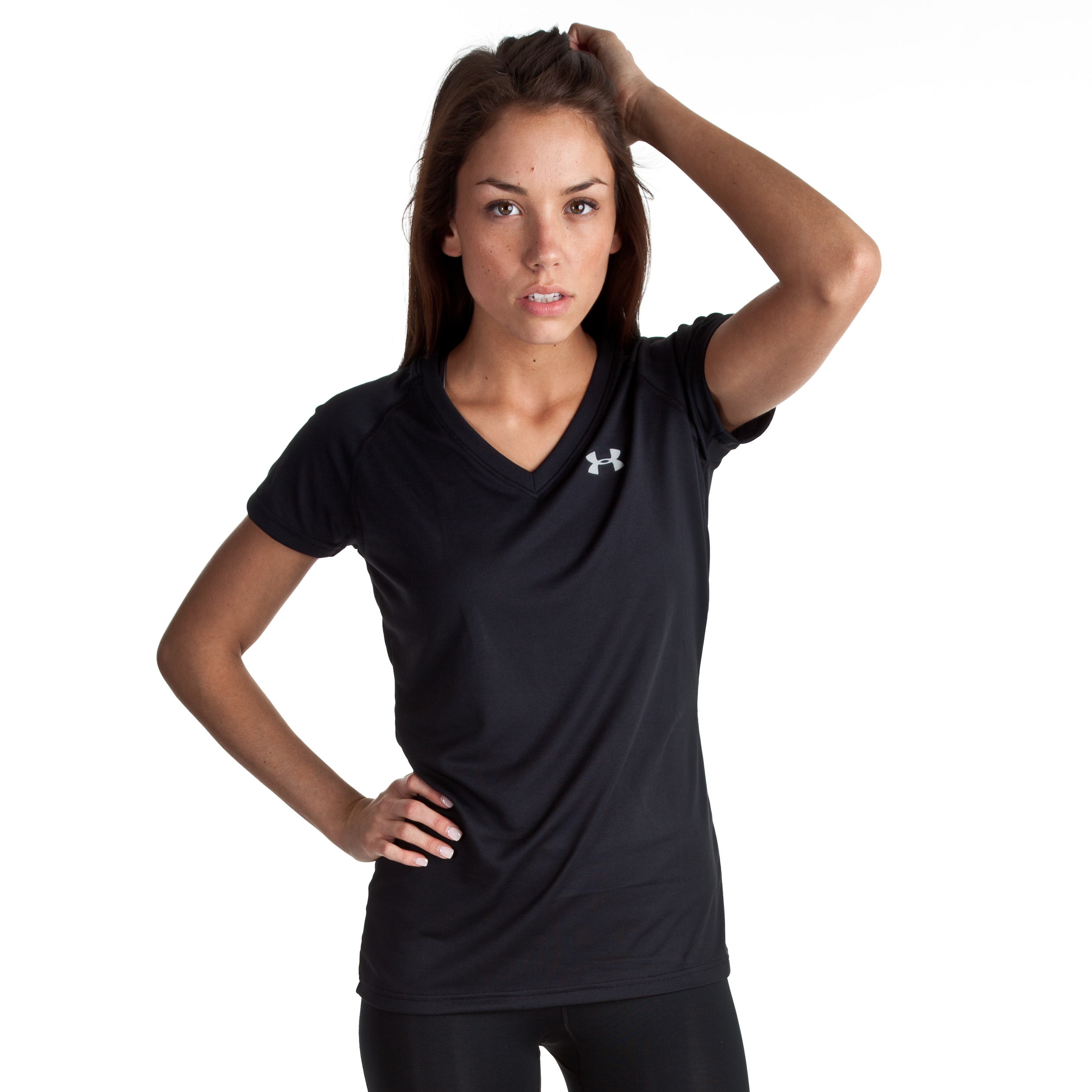 Under Armour Tech SS T - Black/Silver - Womens