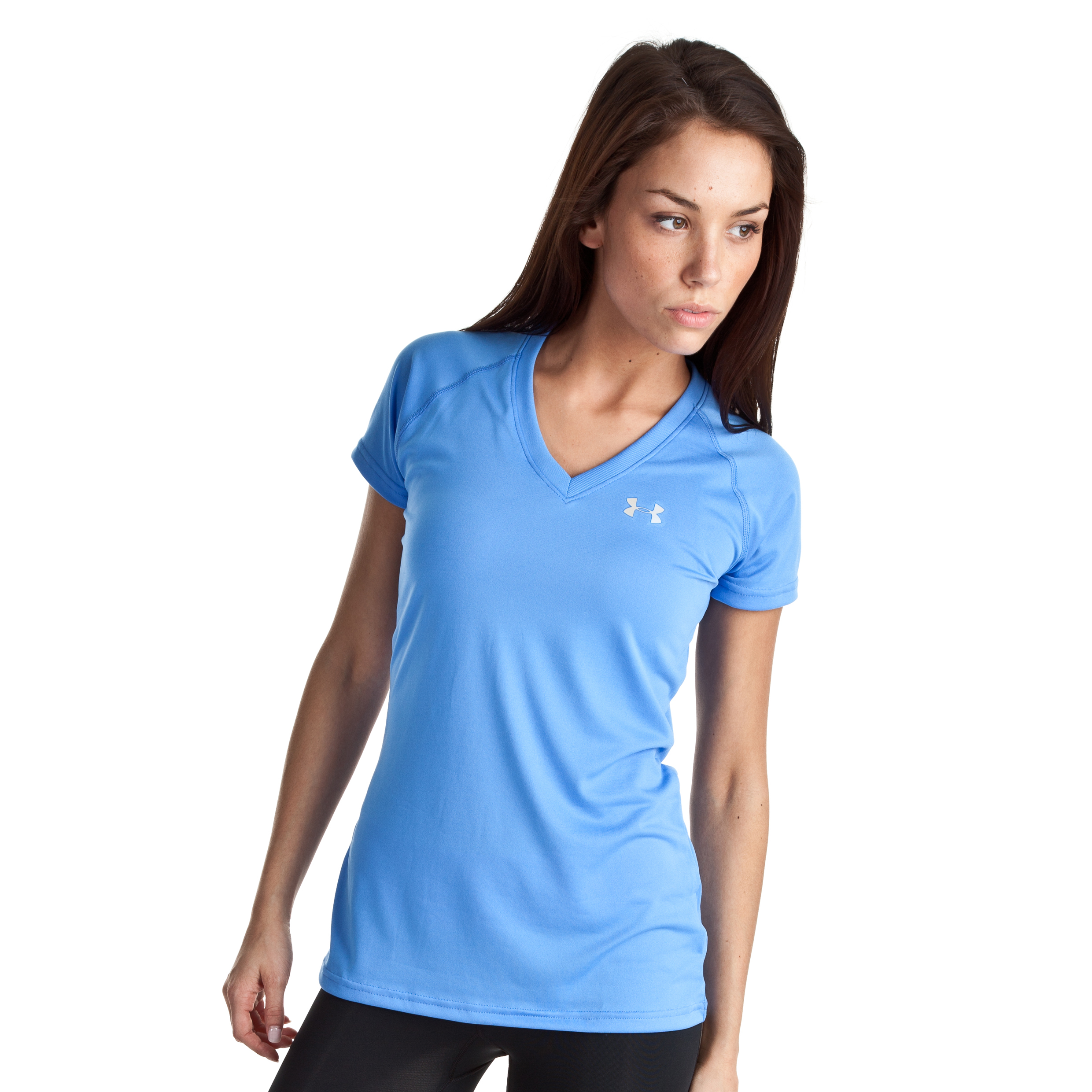 Under Armour Tech SS T - Water/Iridescent Blue - Womens