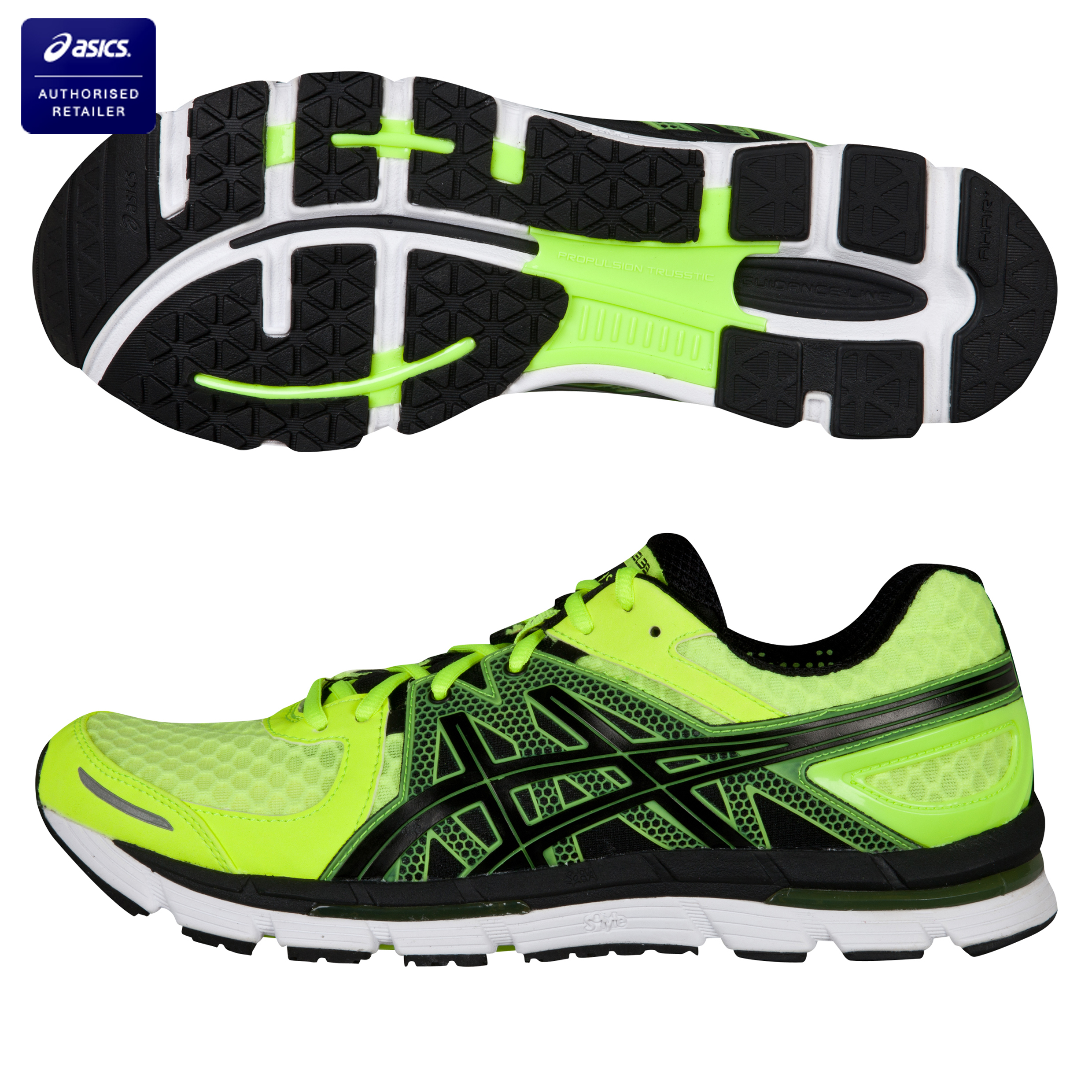 Asics Gel-Excel 33 Running Trainers - Neon Yellow/Black