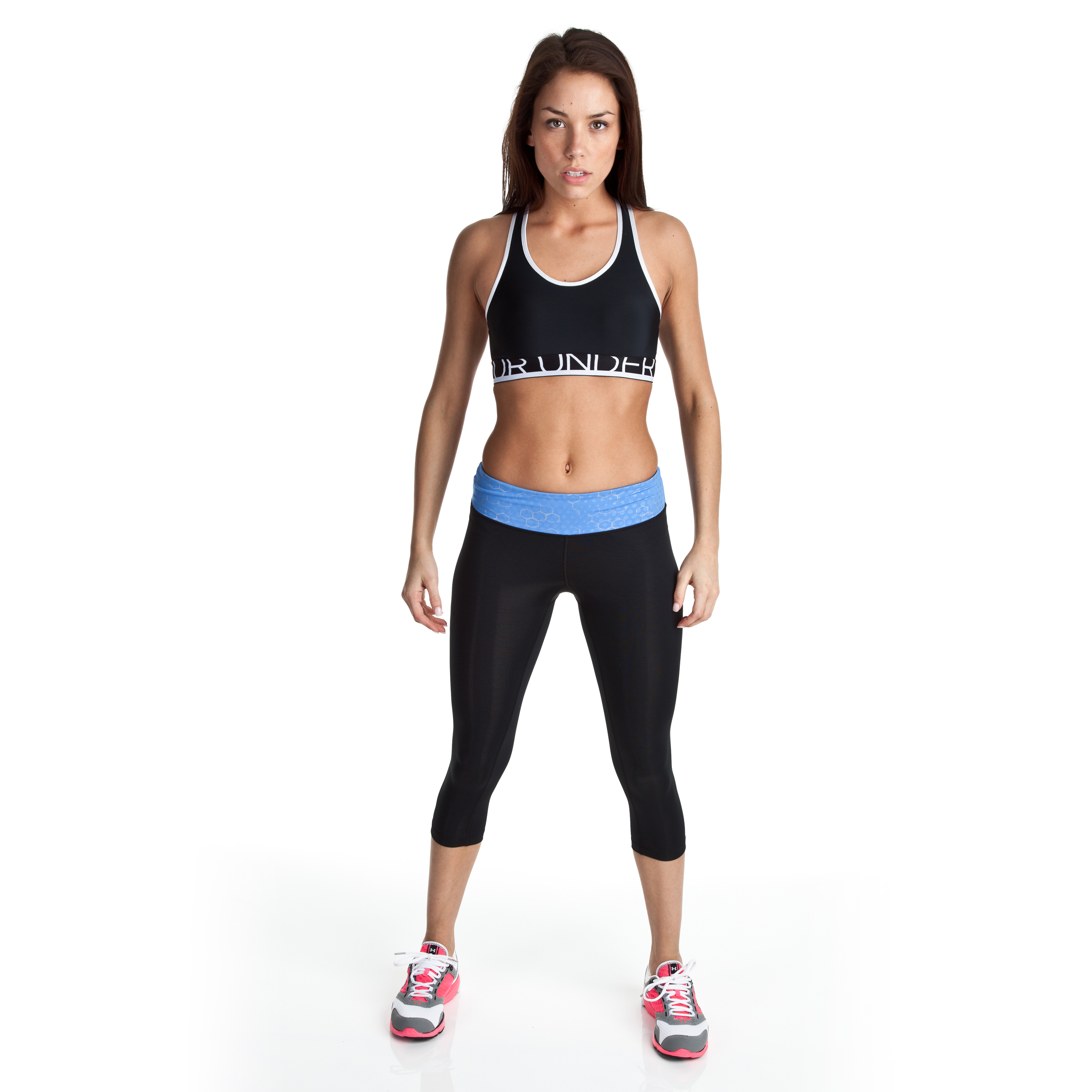 Under Armour Sonic Capri - Black/Water - Womens