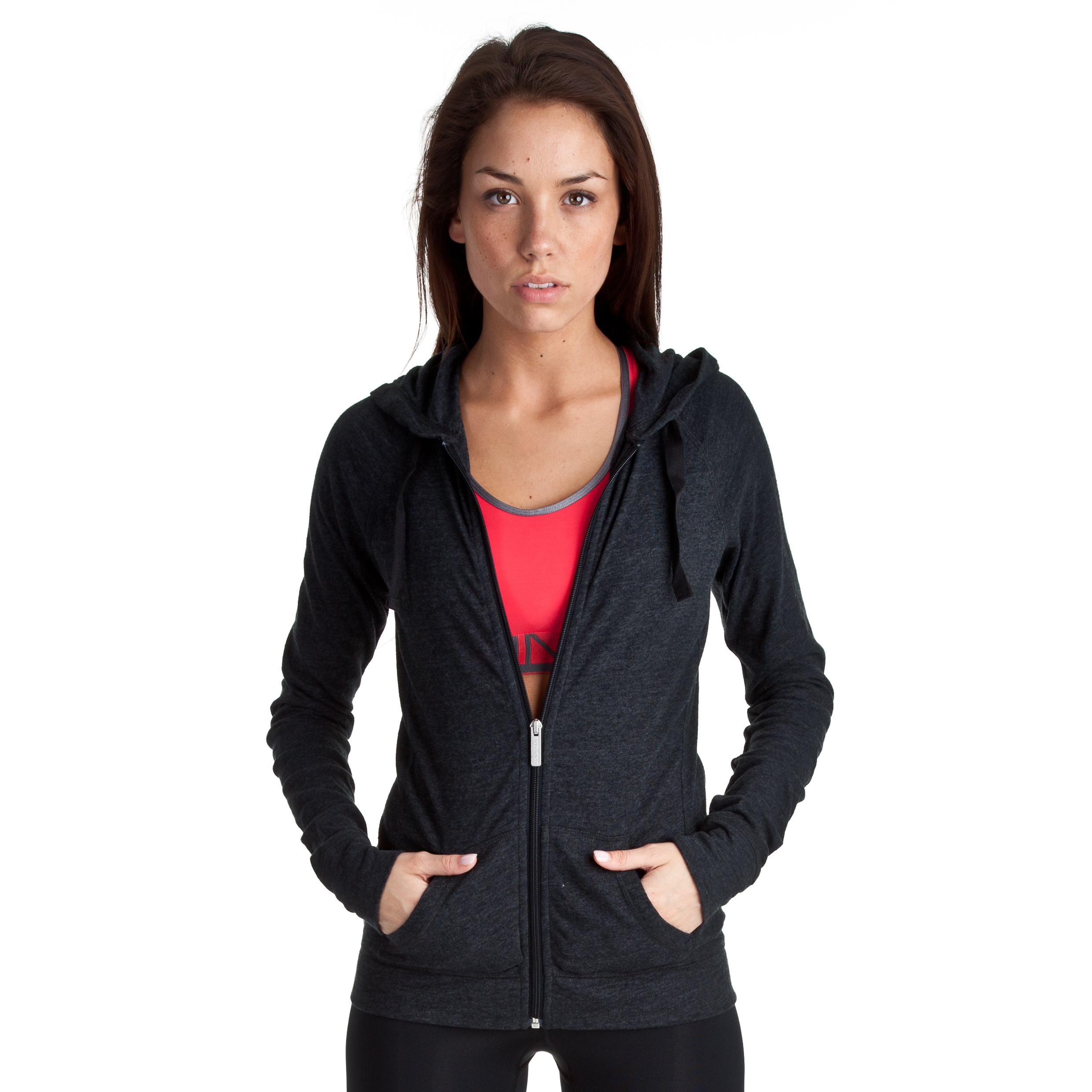 Under Armour Charged Cotton Undeniable Full Zip Hoody - Black/Charcoal - Womens