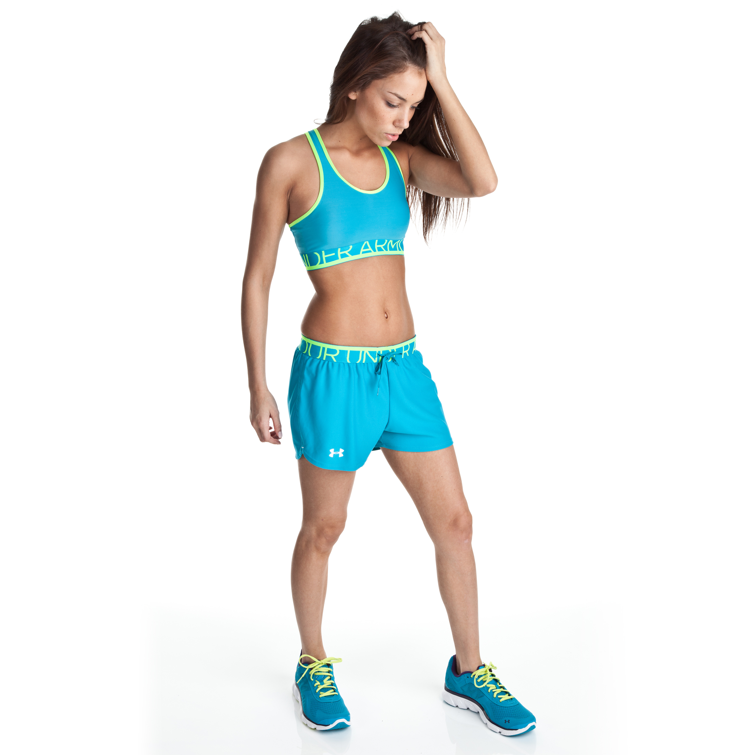 Under Armour Play Up Short - Deceit/High Vis - Womens