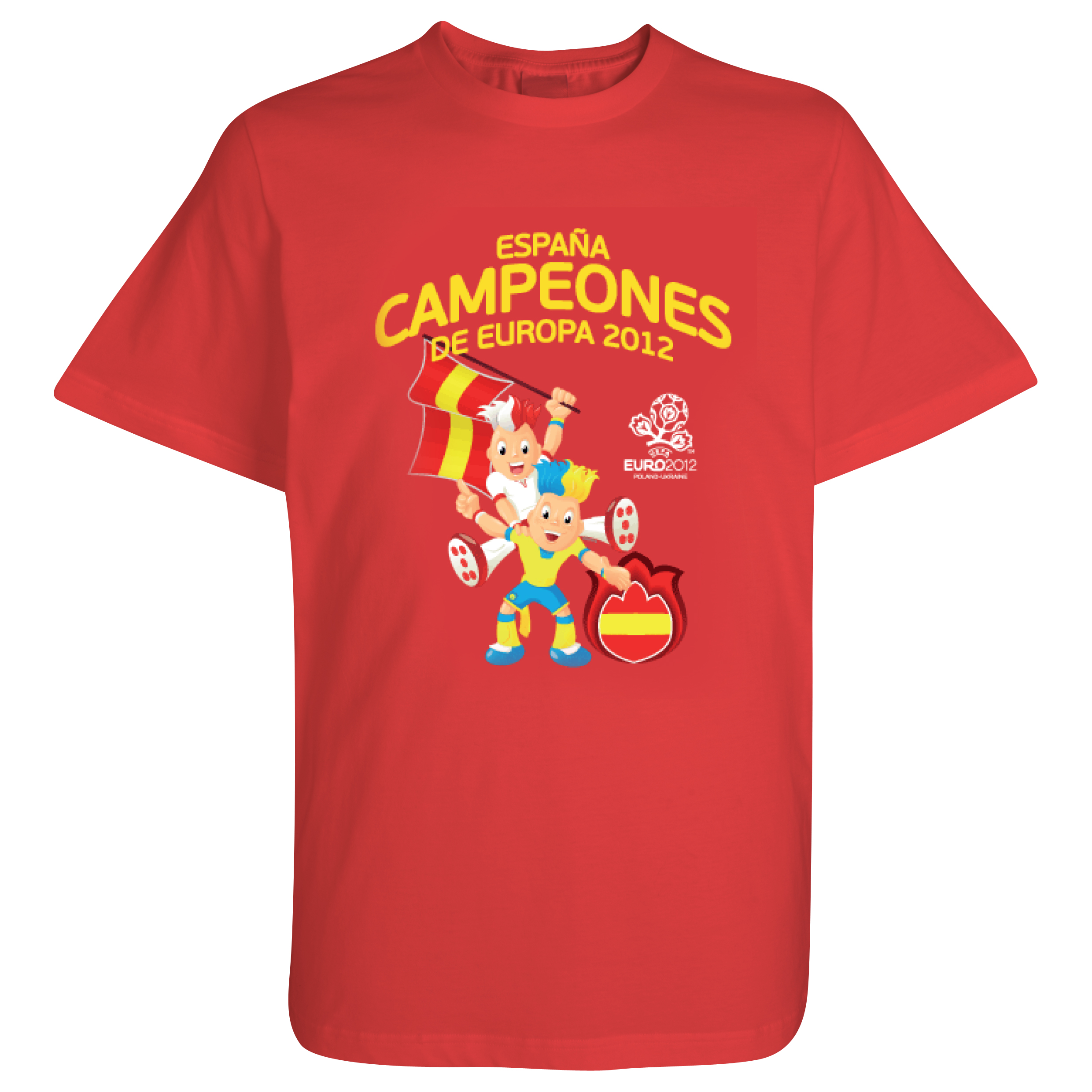 Spain EURO 2012 Winners T-Shirt - Red