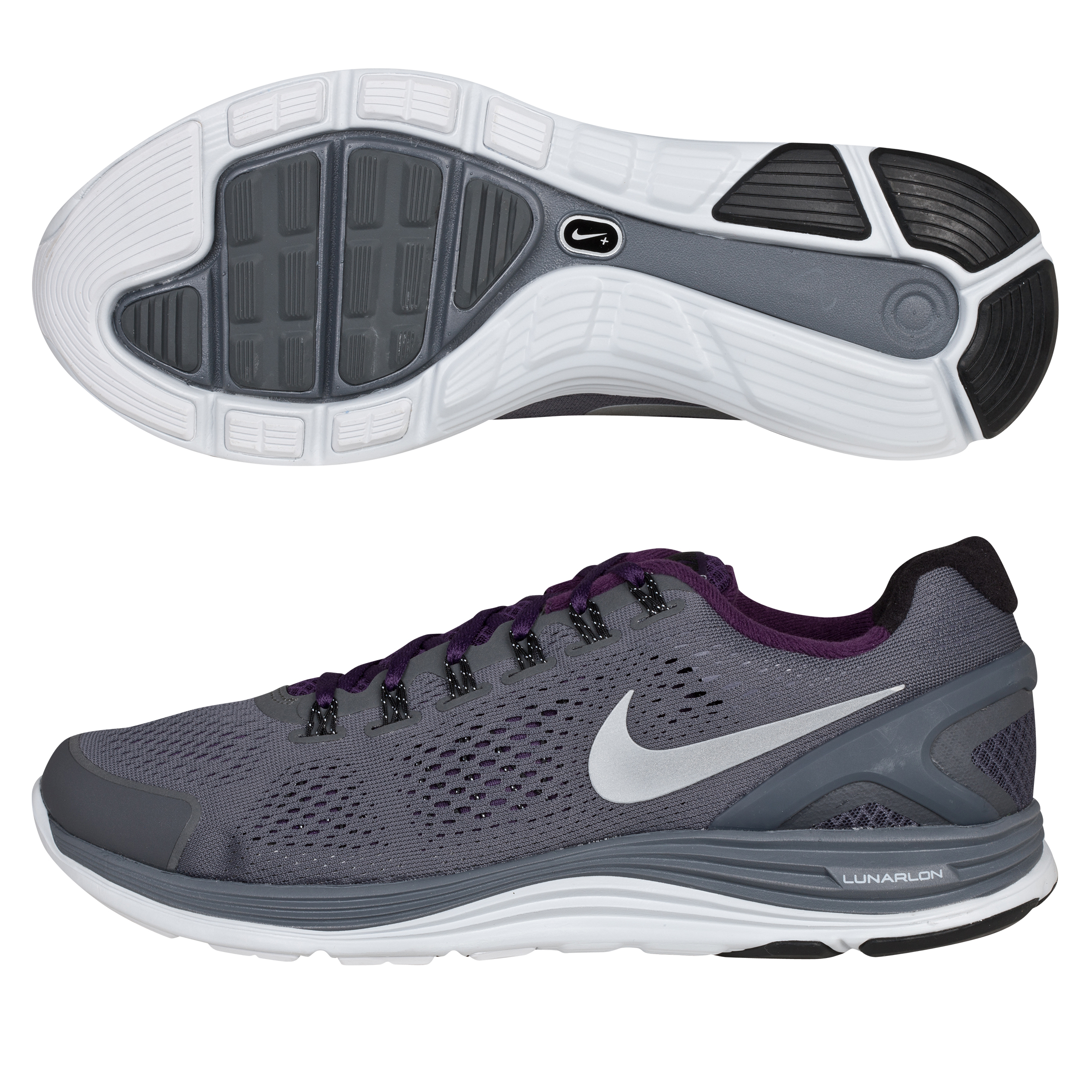 Nike Lunarglide+ 4 Stability Trainer - Dark Grey/Silver