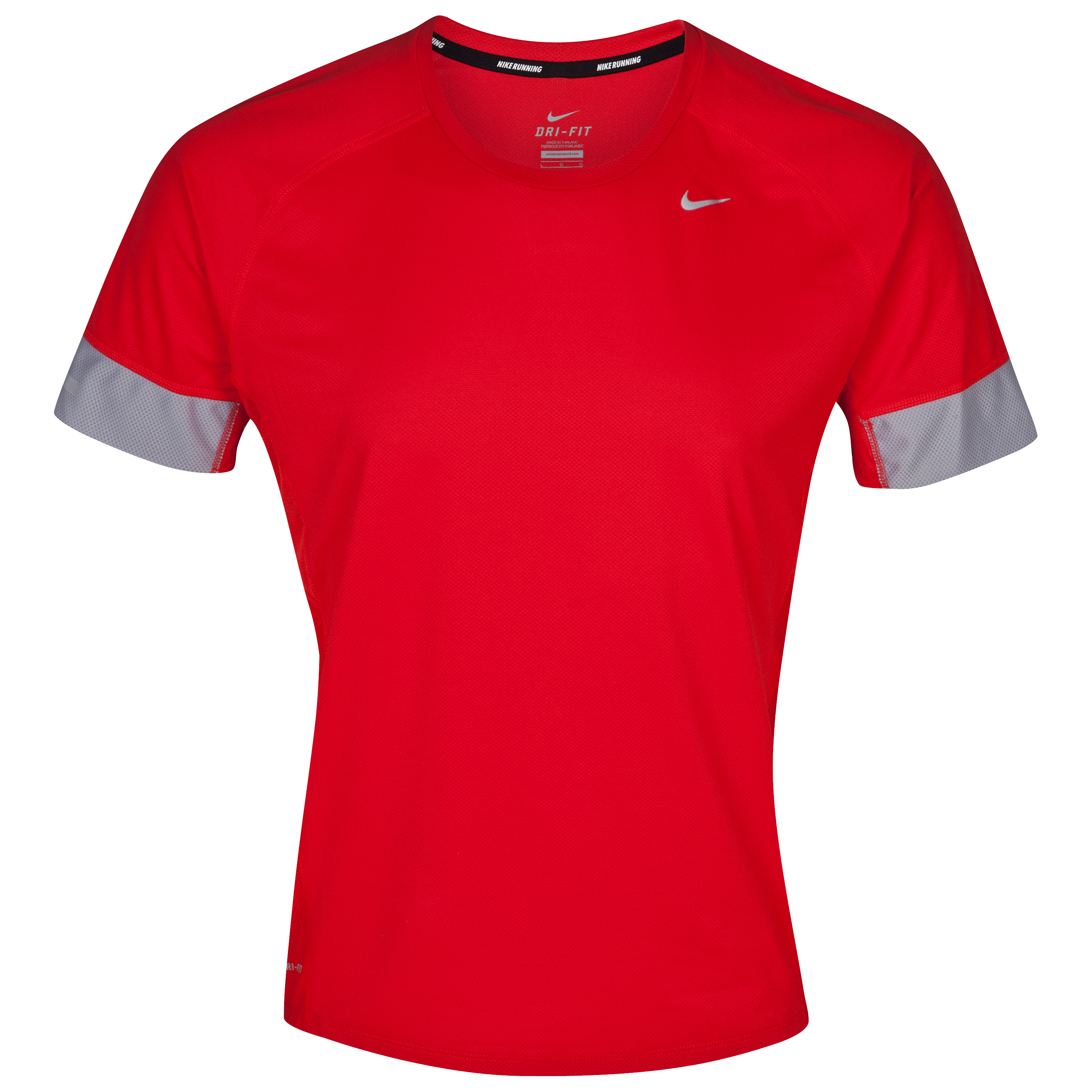 Nike Sphere SS Running T-Shirt - Pimento Red/Stadium Grey