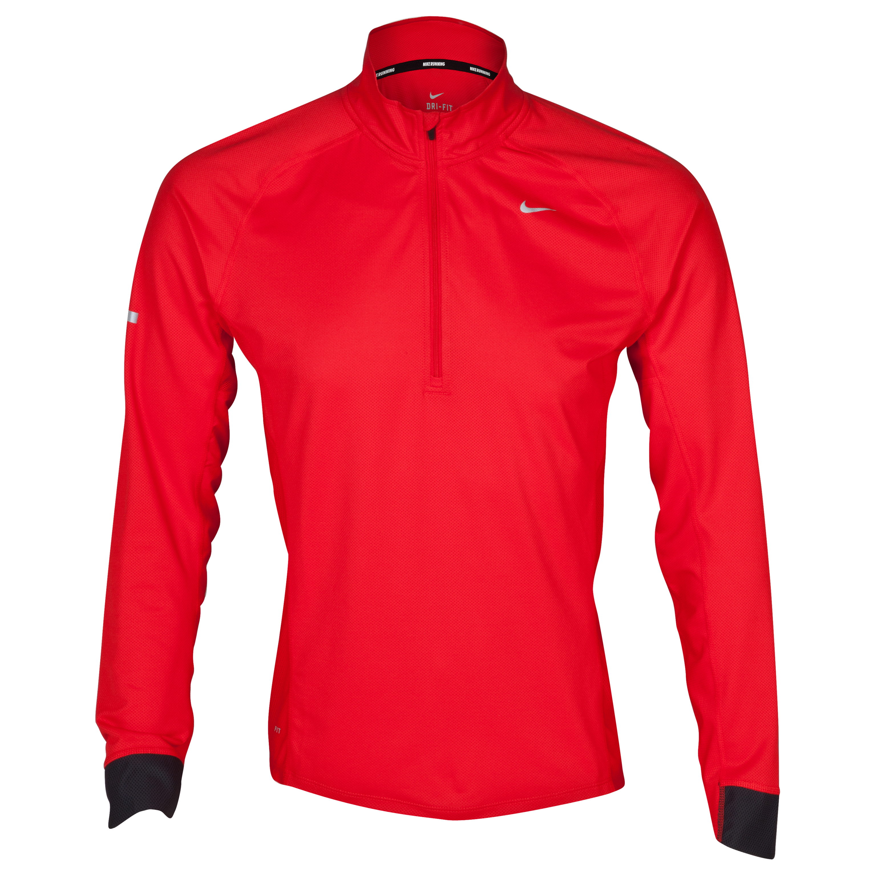 Nike Sphere LS 1/2 Zip Top - Pimento Red/Anthracite