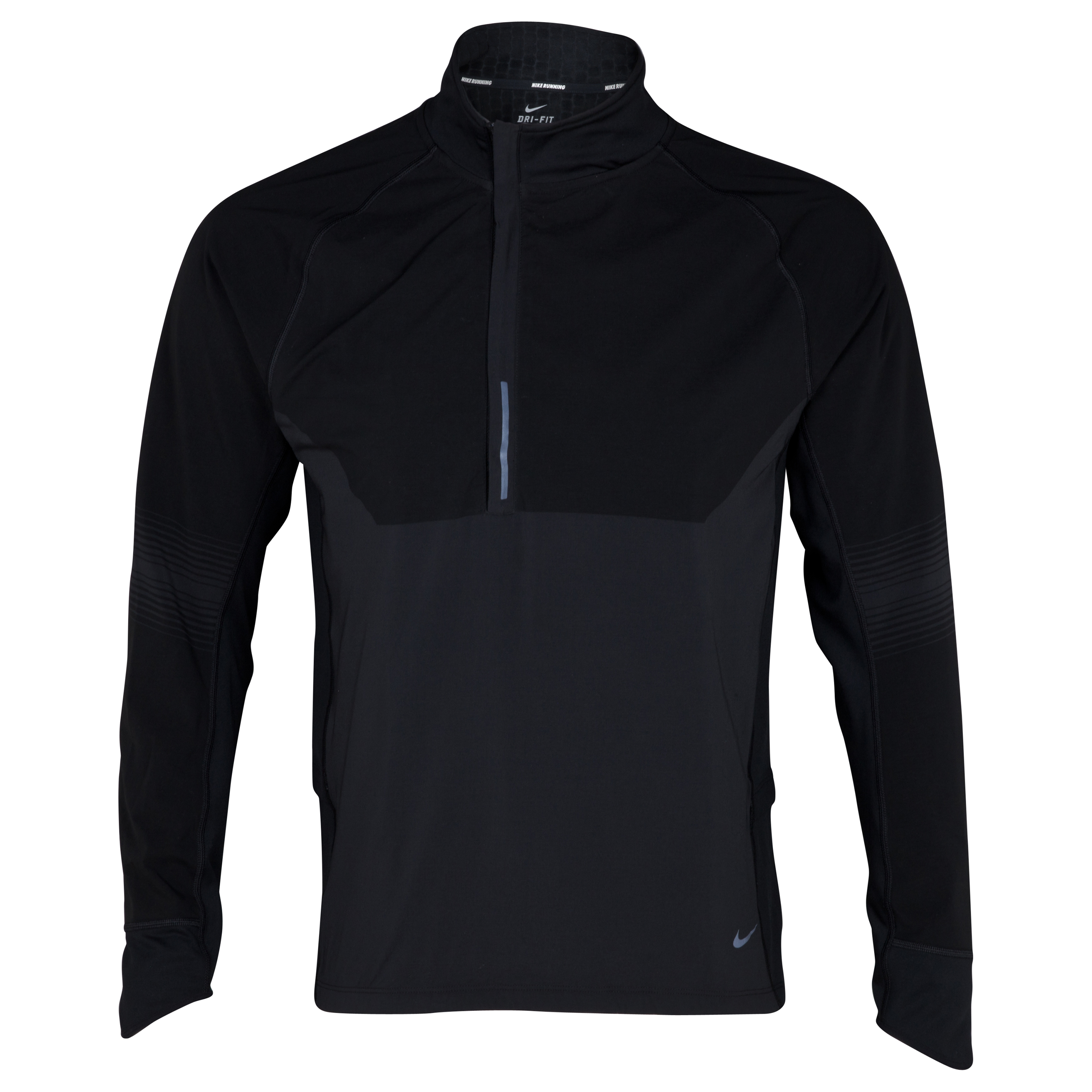 Nike Sphere Dry 1/2 Zip Top - Black/Black