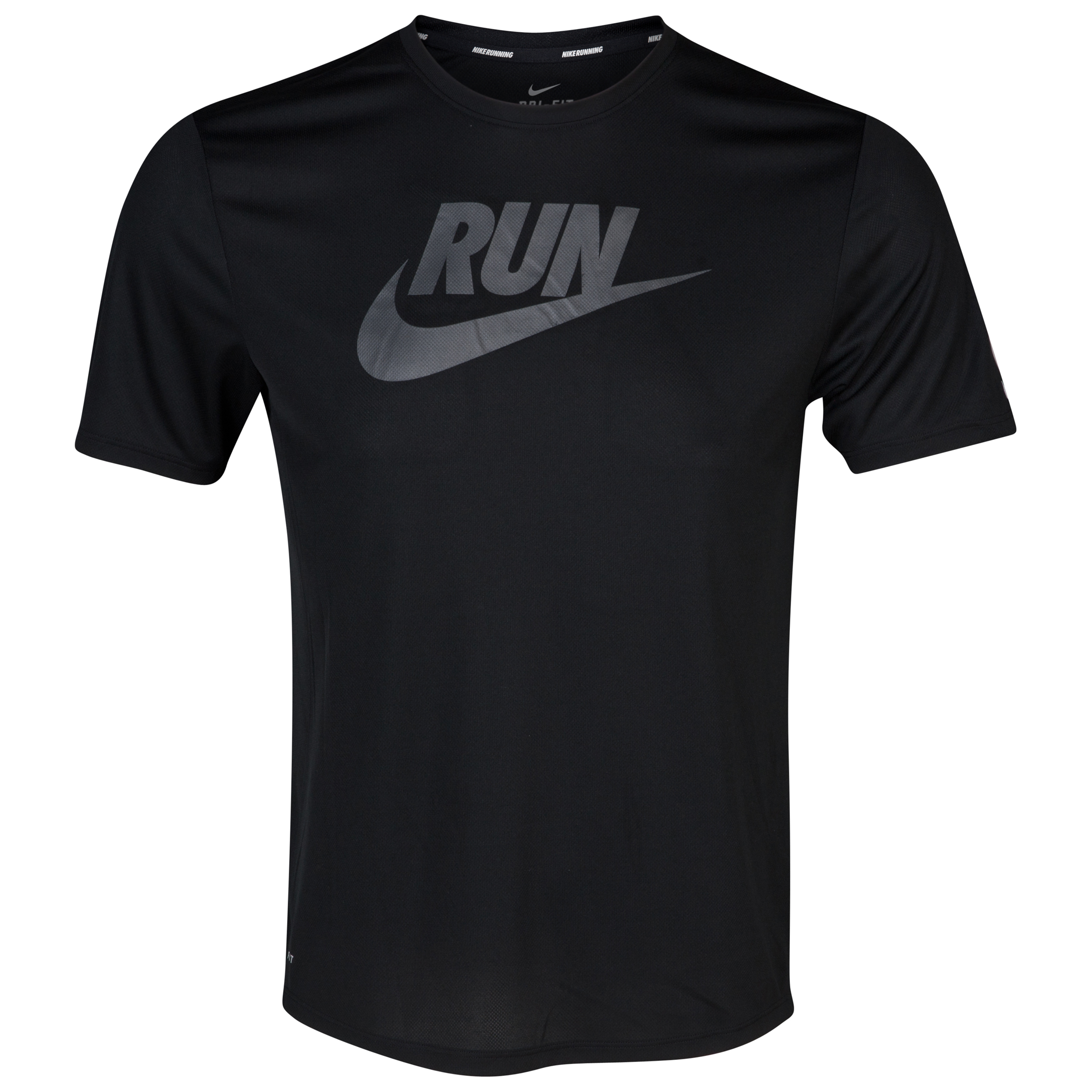 Nike Challenger Swoosh Run Tee - Black/Reflect Silver