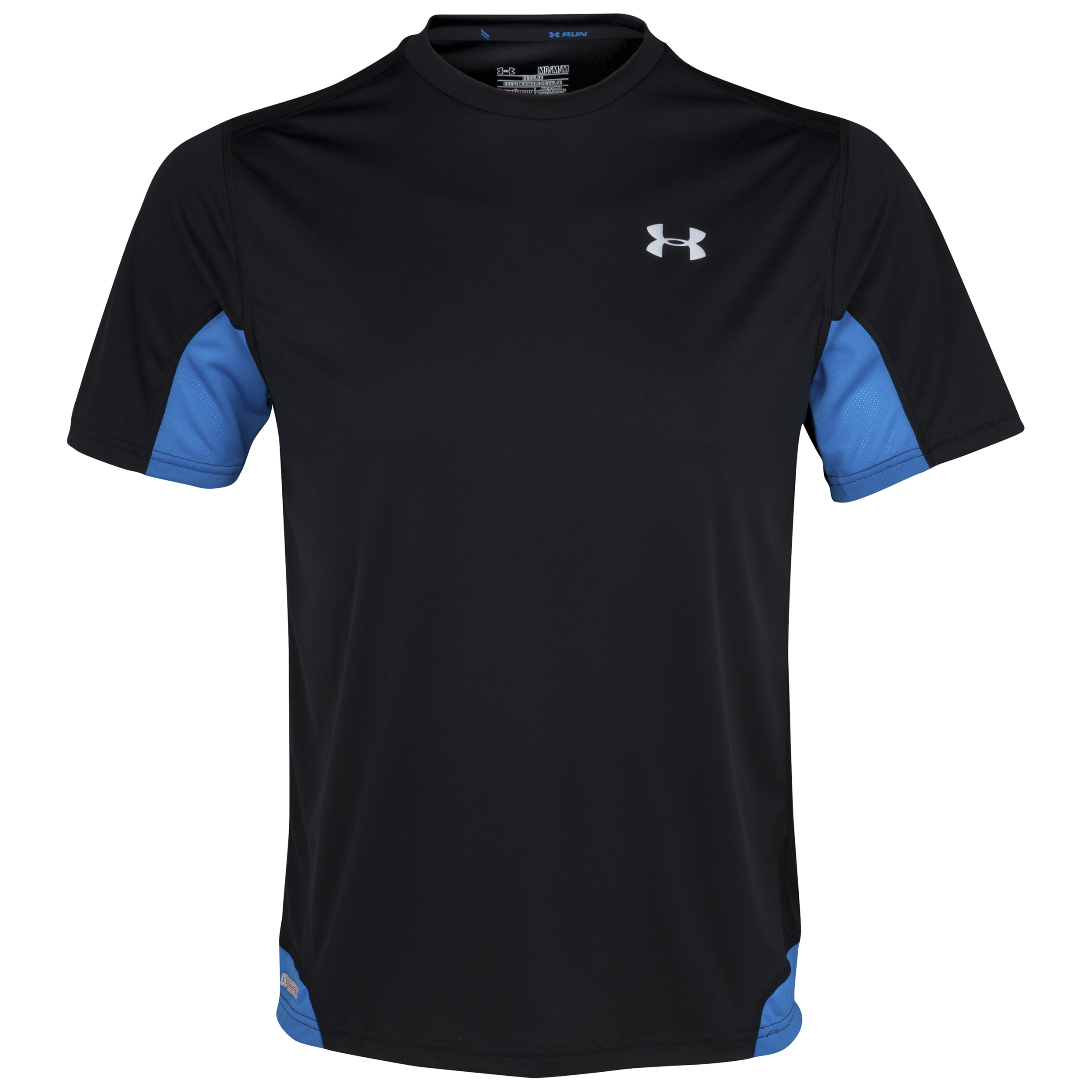Under Armour HG Flyweight Run Short Sleeve T-Shirt - Black/Graphite