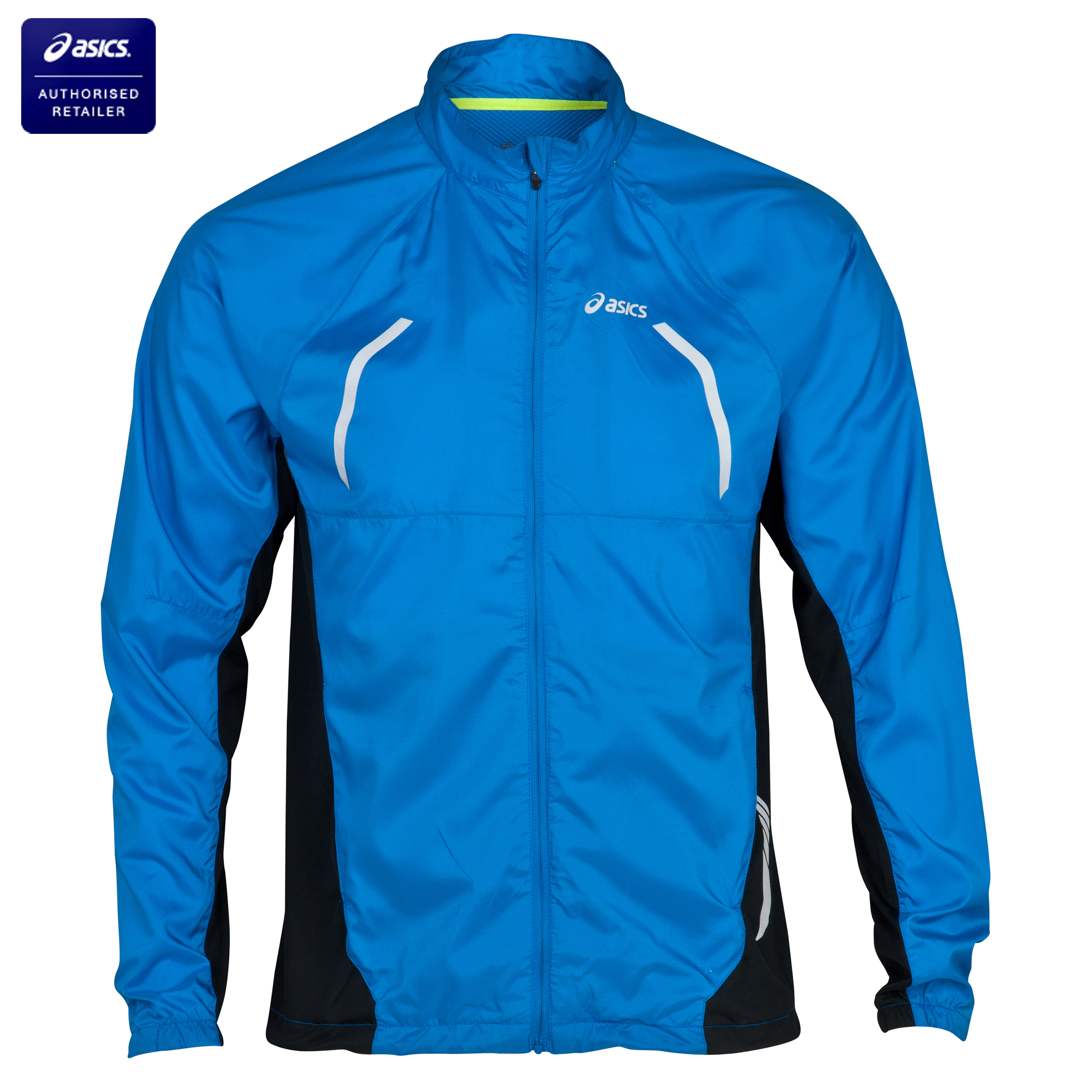 Asics Woven/Knit Lightweight Running Jacket - Skydiver Blue