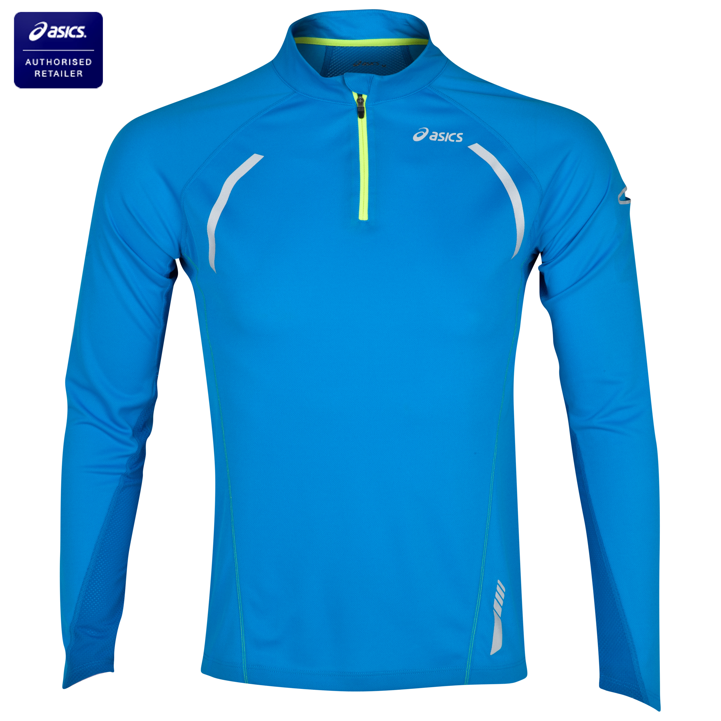 Asics Long Sleeve Half Zip Running Top - Surf Blue