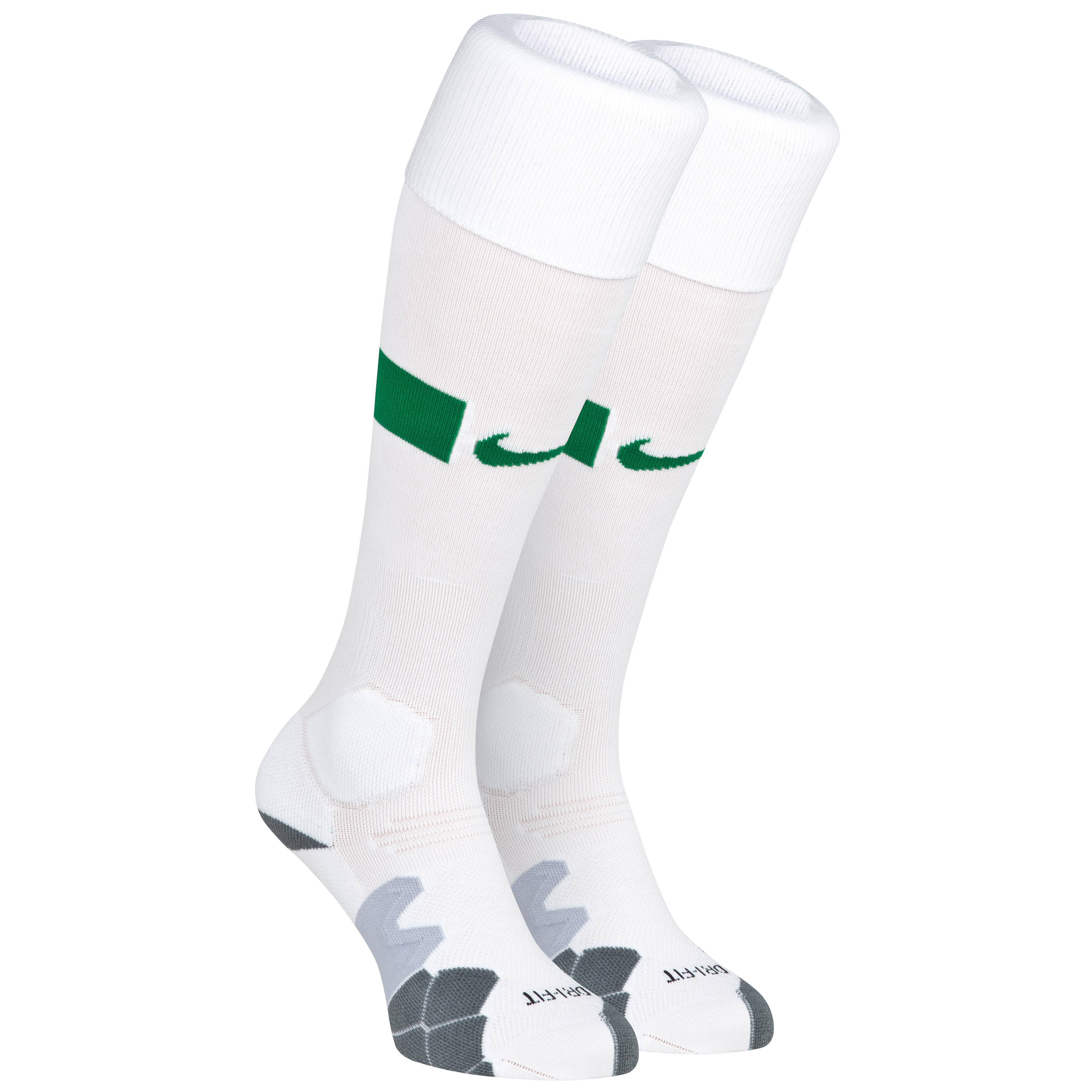 Brazil Home Sock 2013/14 - Football White/Pine Green/Pine Green