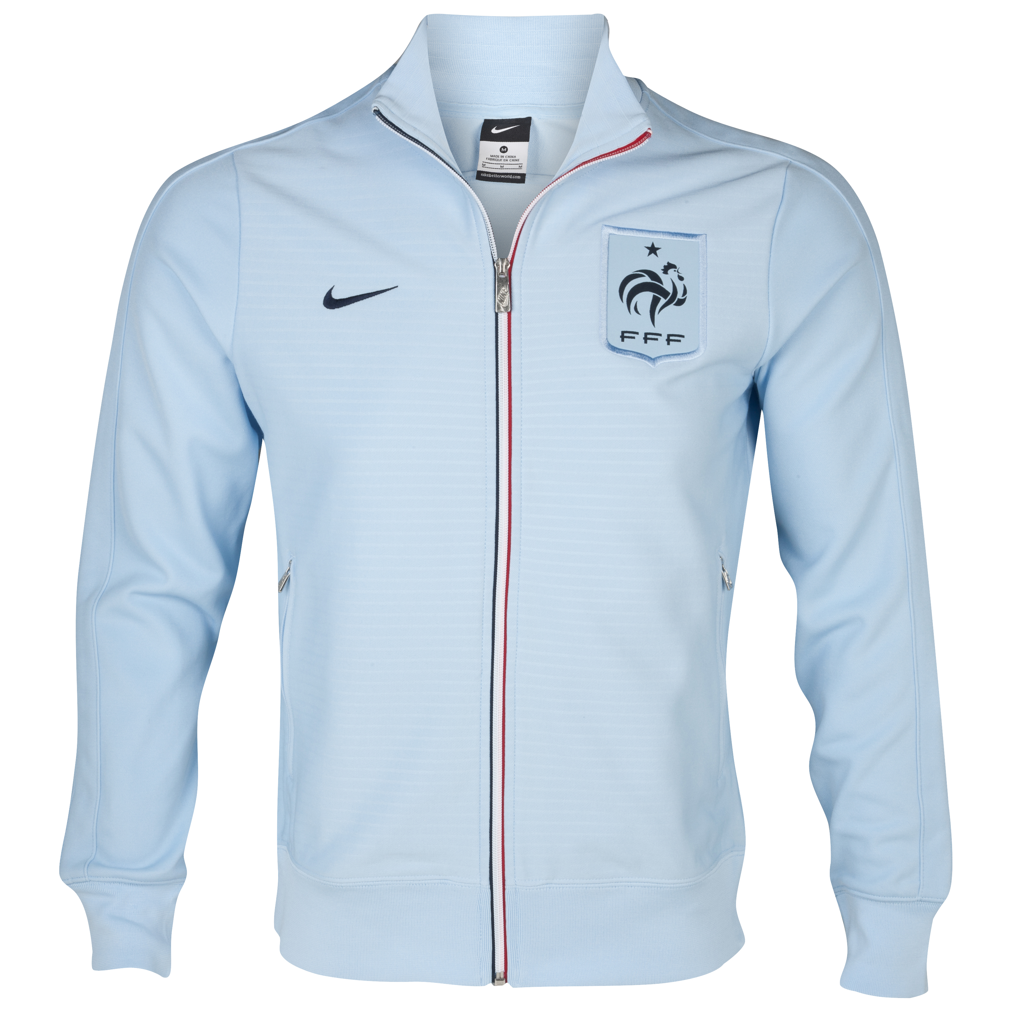 France Authentic N98 Track Jacket - Ice Blue/Ice Blue/Obsidian