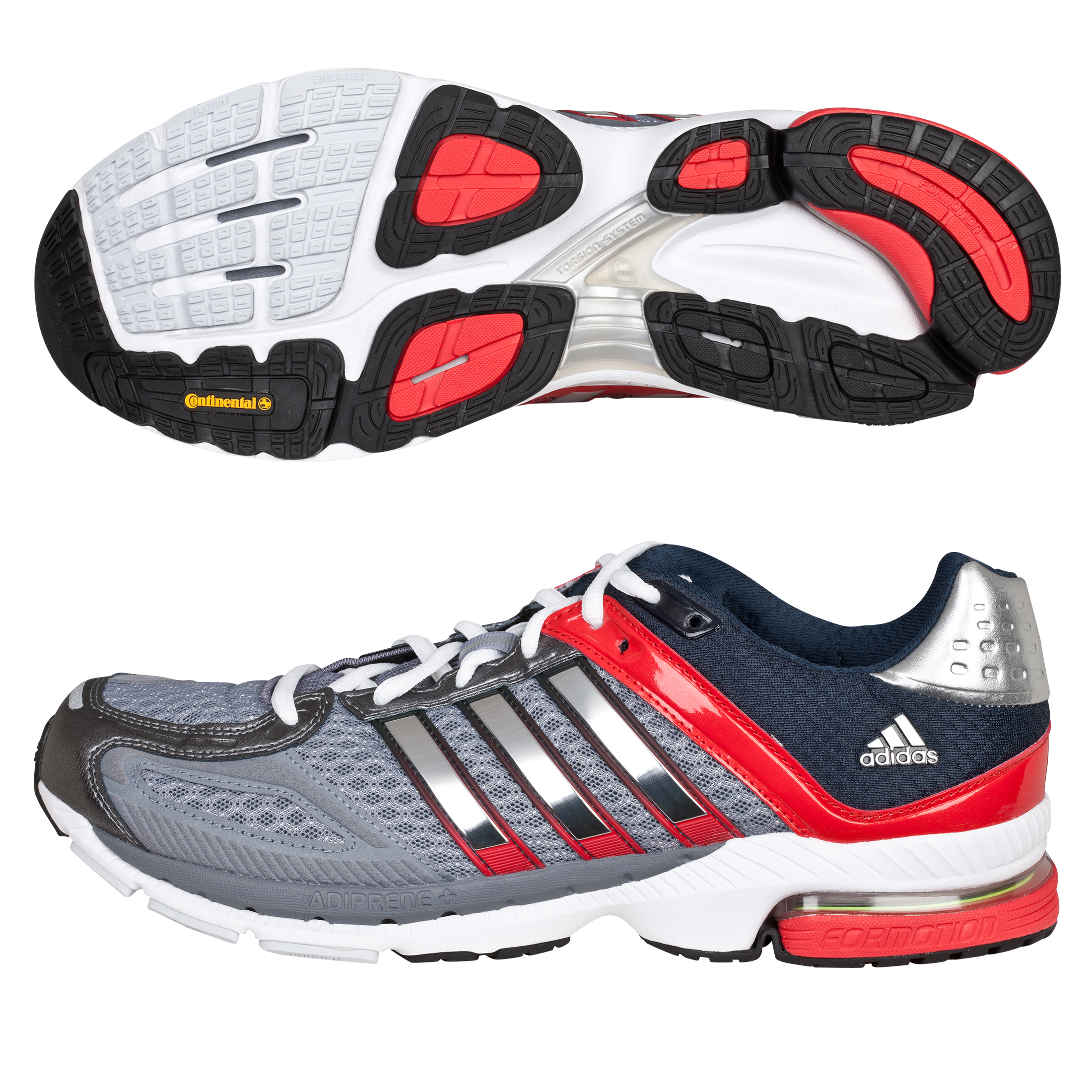 Adidas Snova Seq 5 Running Trainers - Grey/Metallic Silver/Red